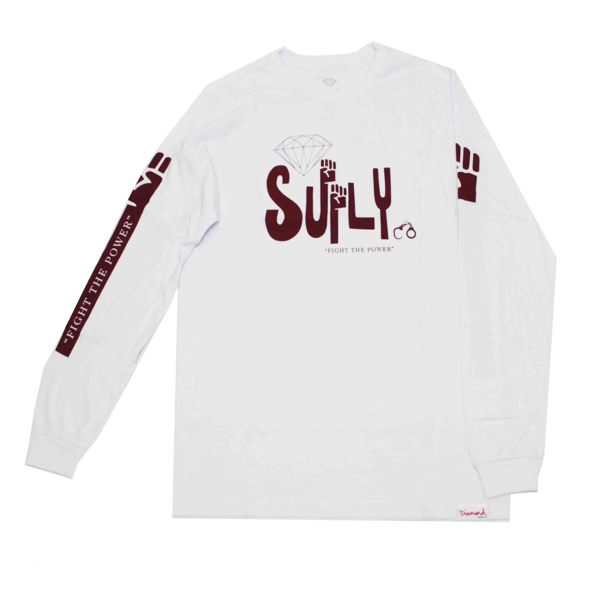 Camiseta Manga Longa Diamond Oppose White