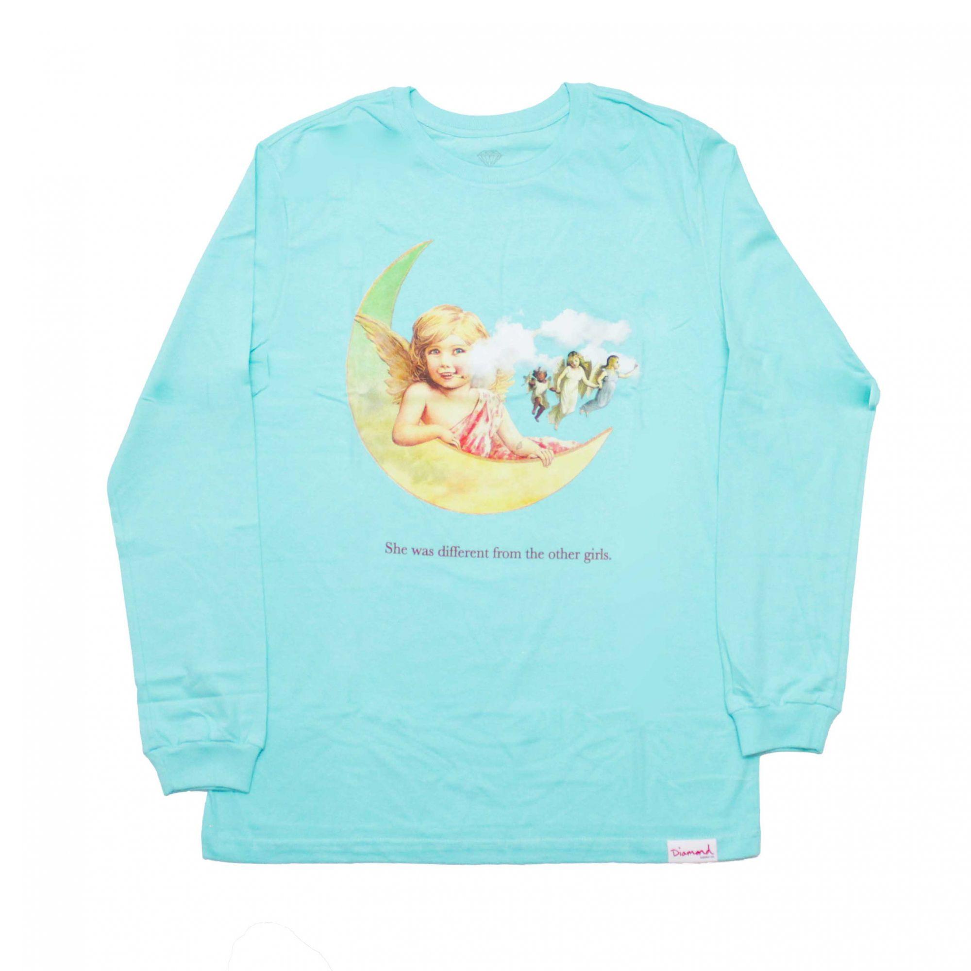 Camiseta Manga Longa Diamond Other Girls Verde Água