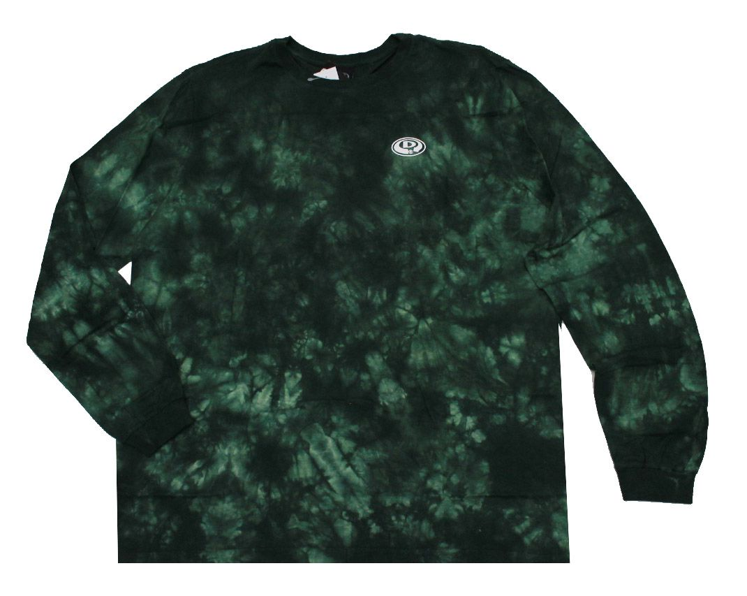 Camiseta Manga Longa Drop Dead World Tie Dye Green