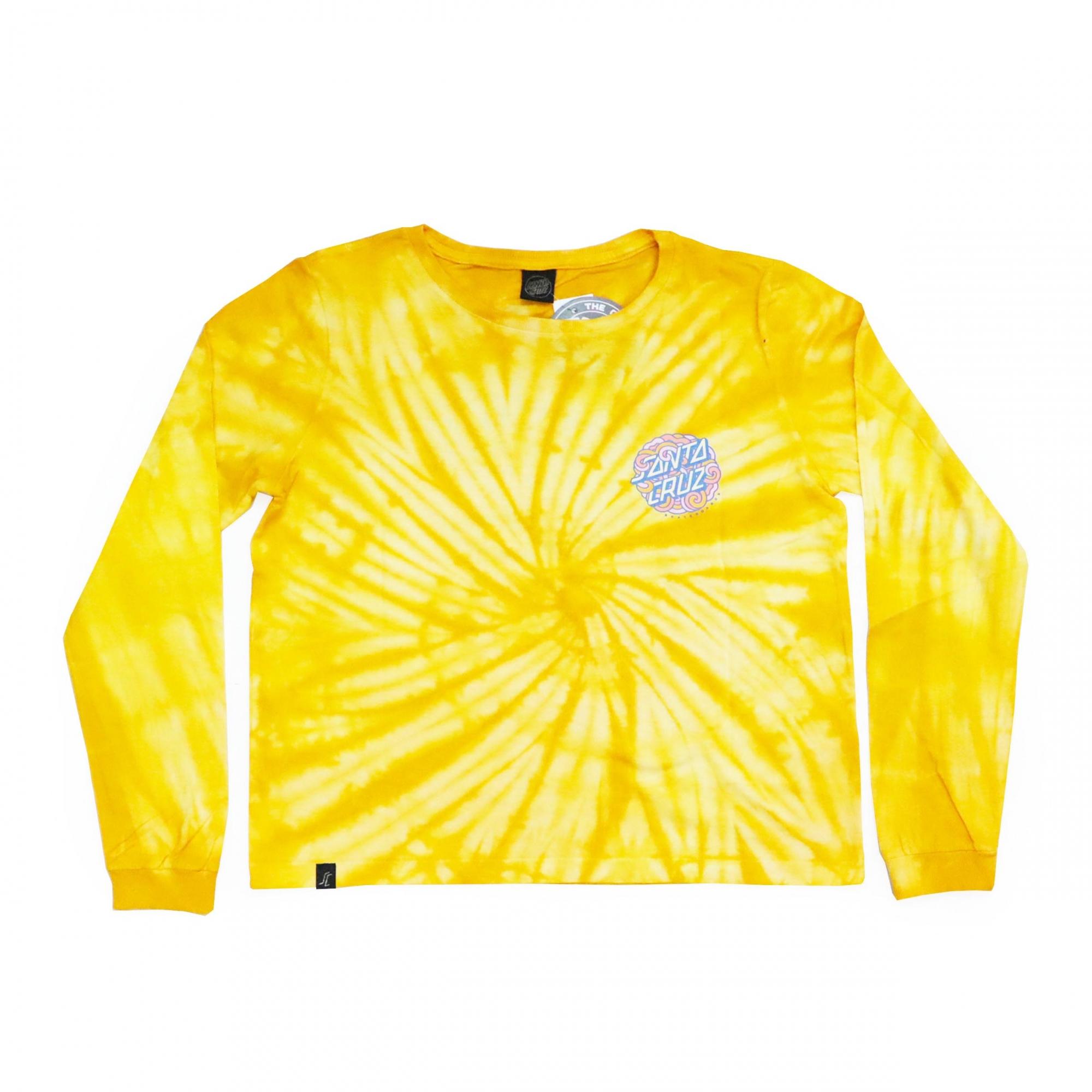 Camiseta Manga Longa Feminina Santa Cruz Funky Dot - Amarelo