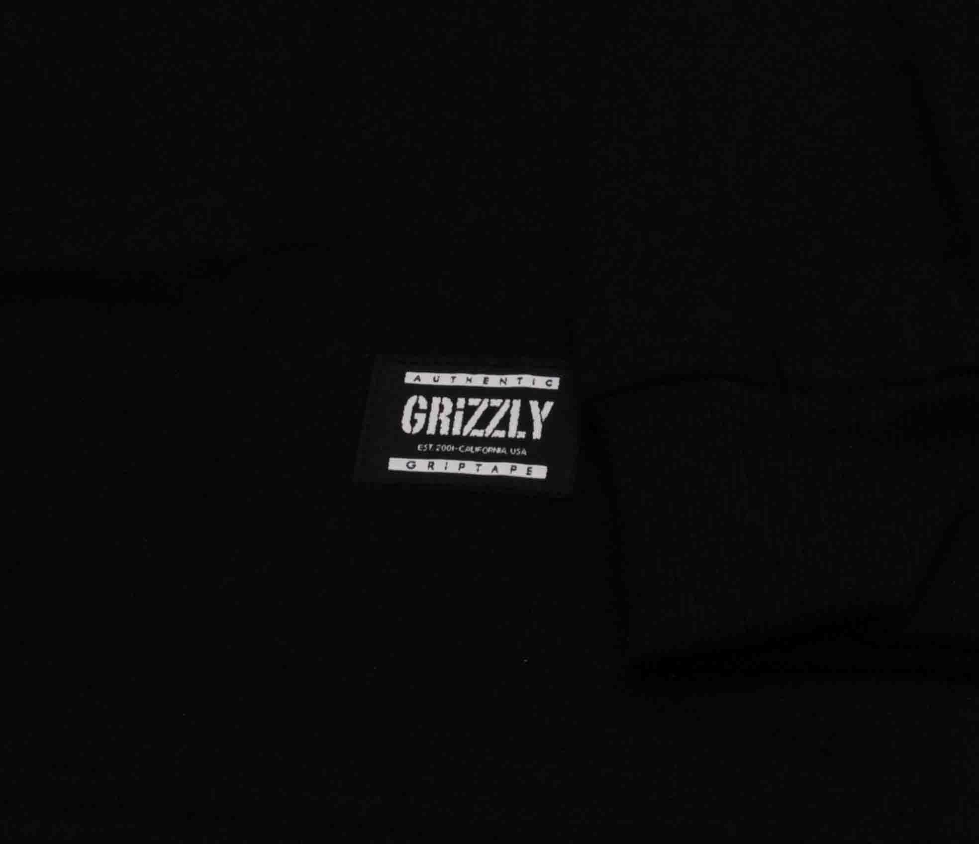 Camiseta Manga Longa Grizzly Family Og Grizz Black