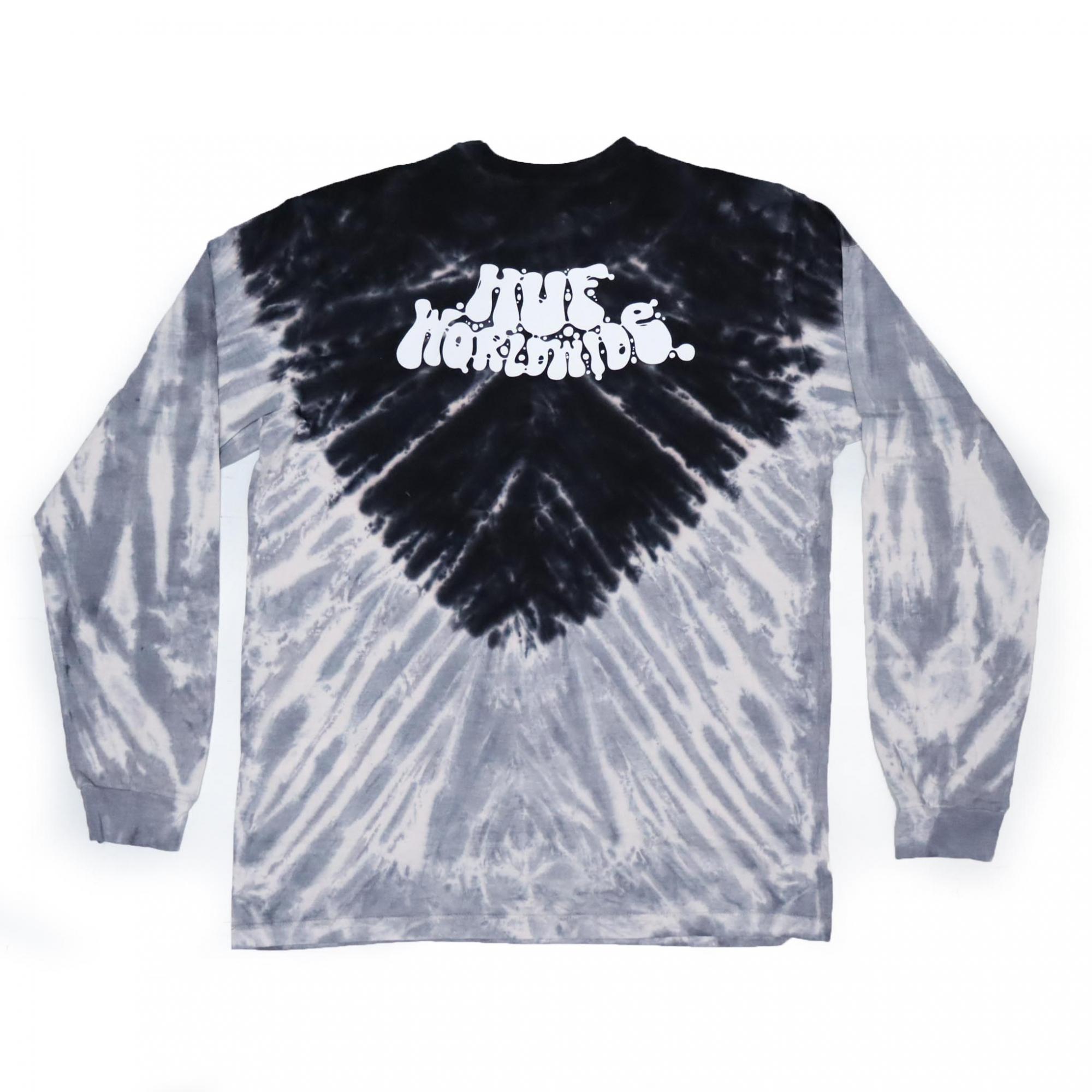 Camiseta Manga Longa HUF Acid Test - Preto