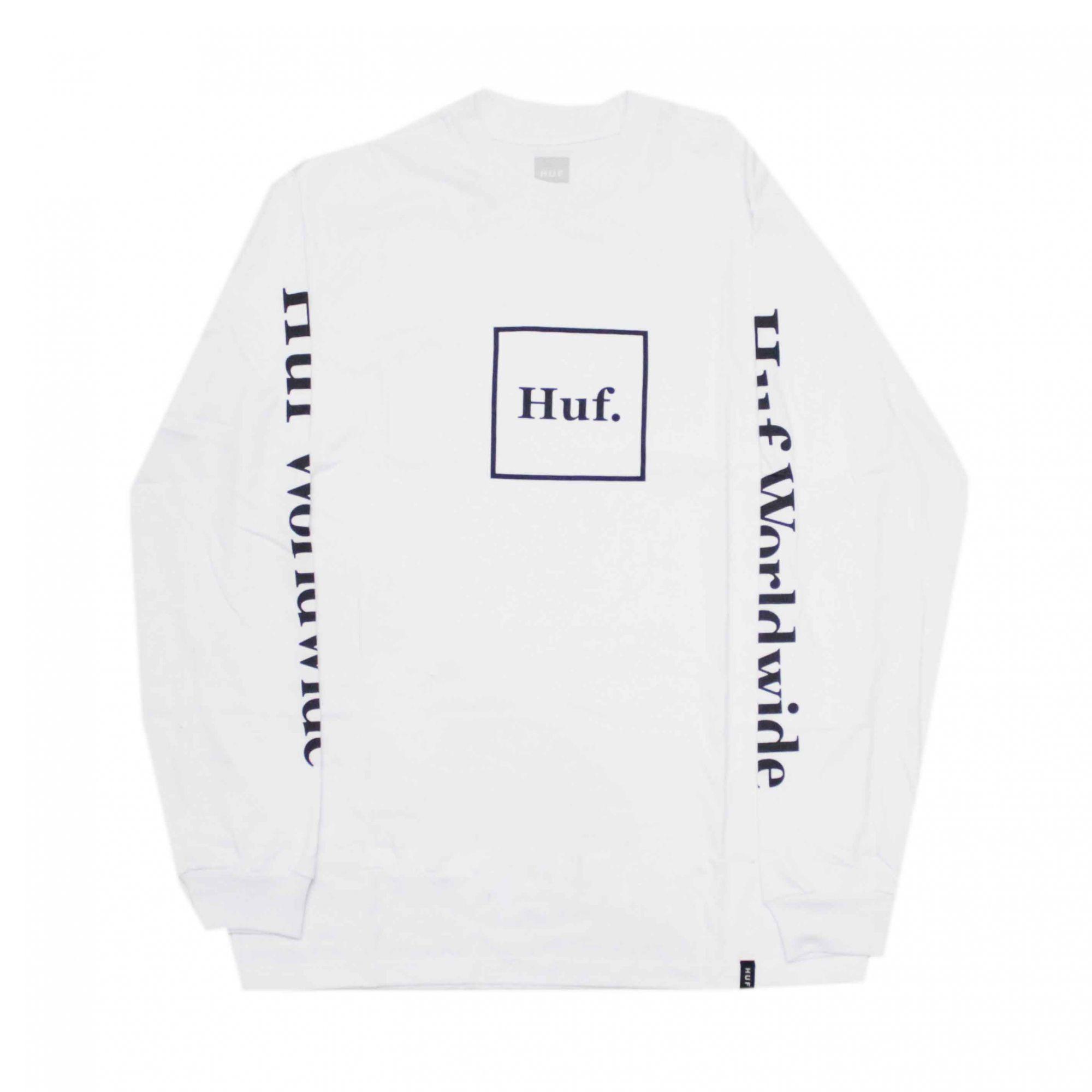 Camiseta Manga Longa HUF Essentials Domestic Box Branco
