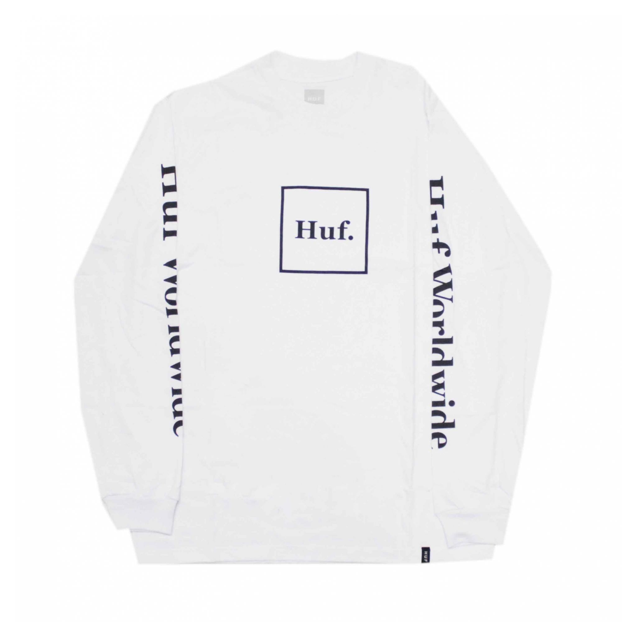 Camiseta Manga Longa HUF Essentials Domestic Box - Branco