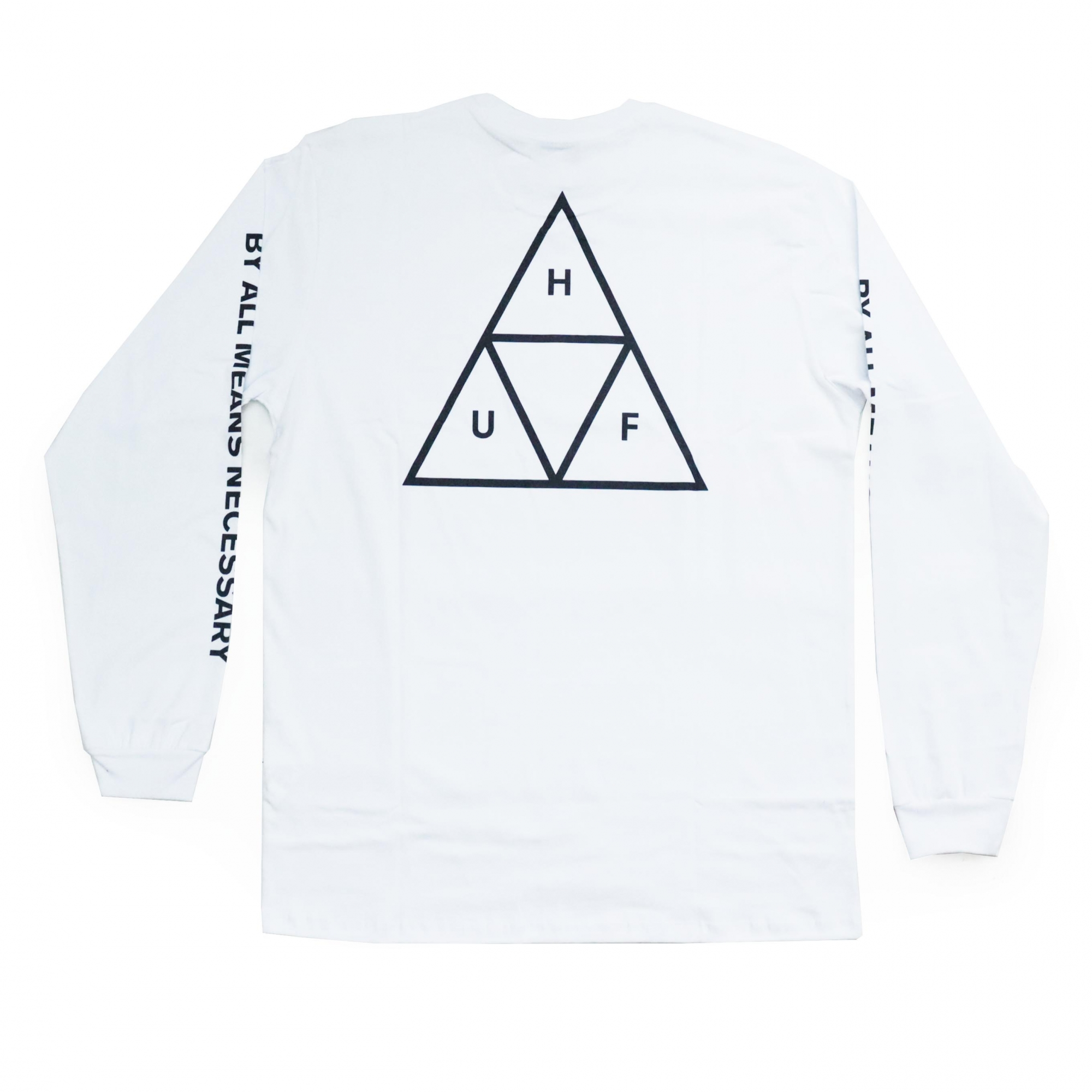 Camiseta Manga Longa HUF Essentials TT - Branco