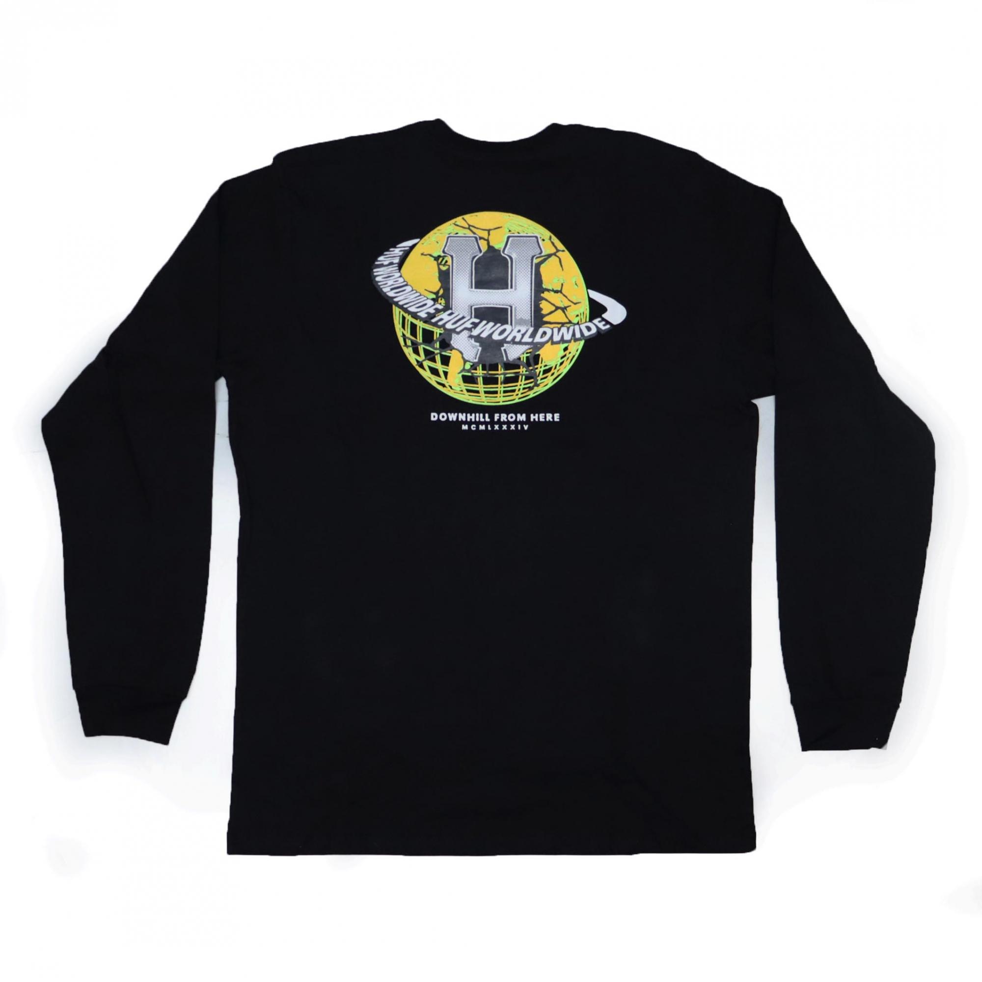 Camiseta Manga Longa HUF Giga Melted - Preto