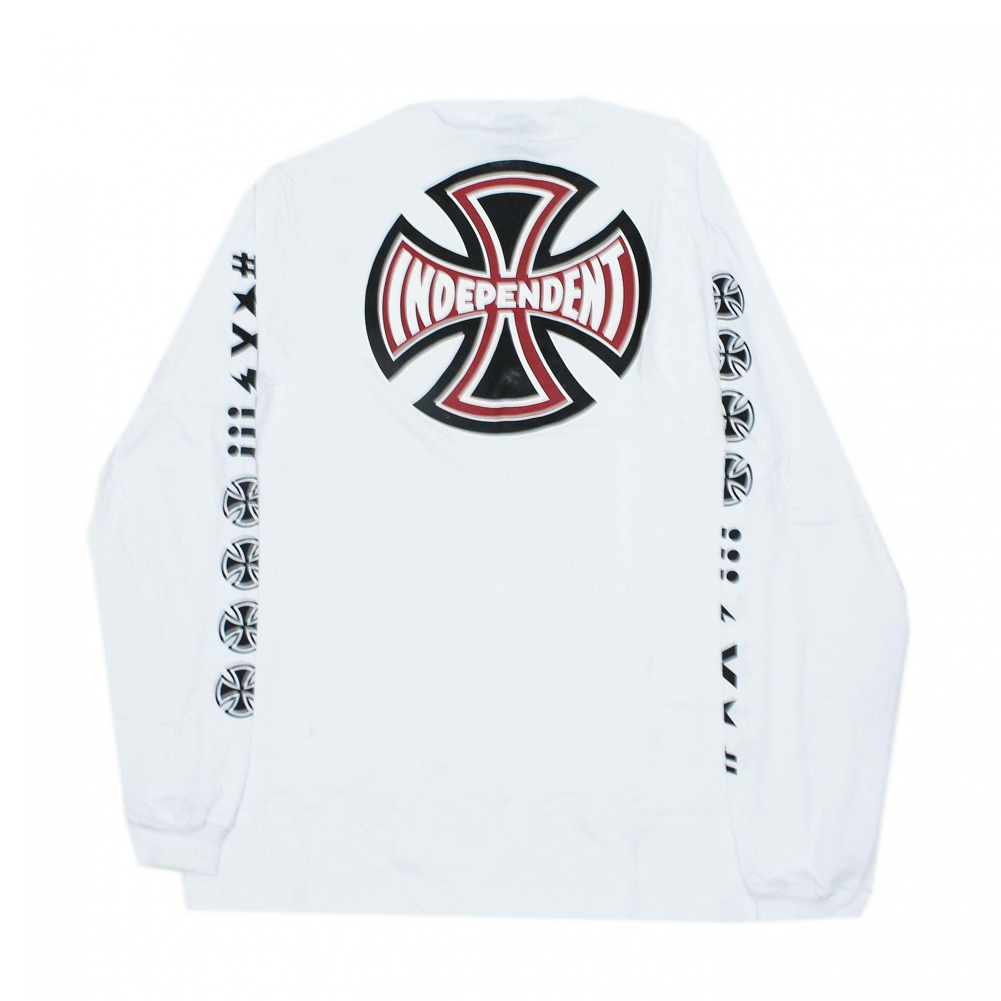 Camiseta Manga Longa Independent Ante Branco