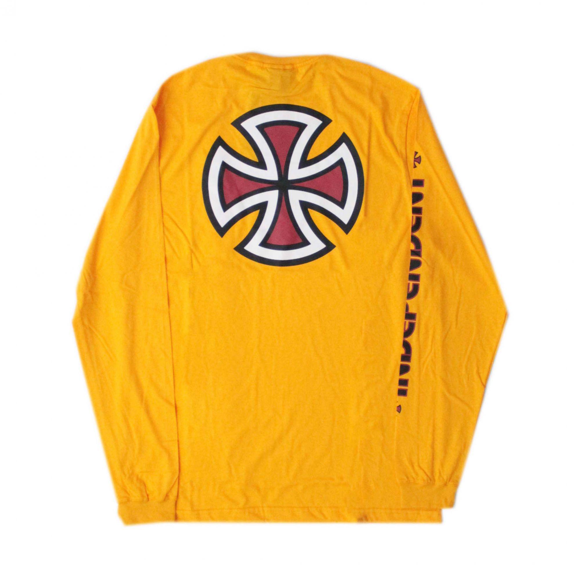 Camiseta Manga Longa Independent Bar Cross - Amarelo