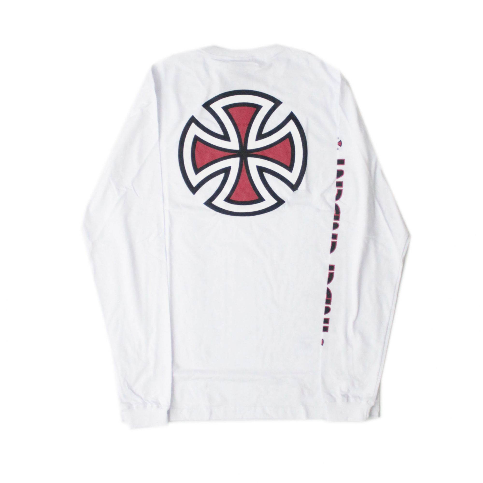 Camiseta Manga Longa Independent Bar Cross Branco