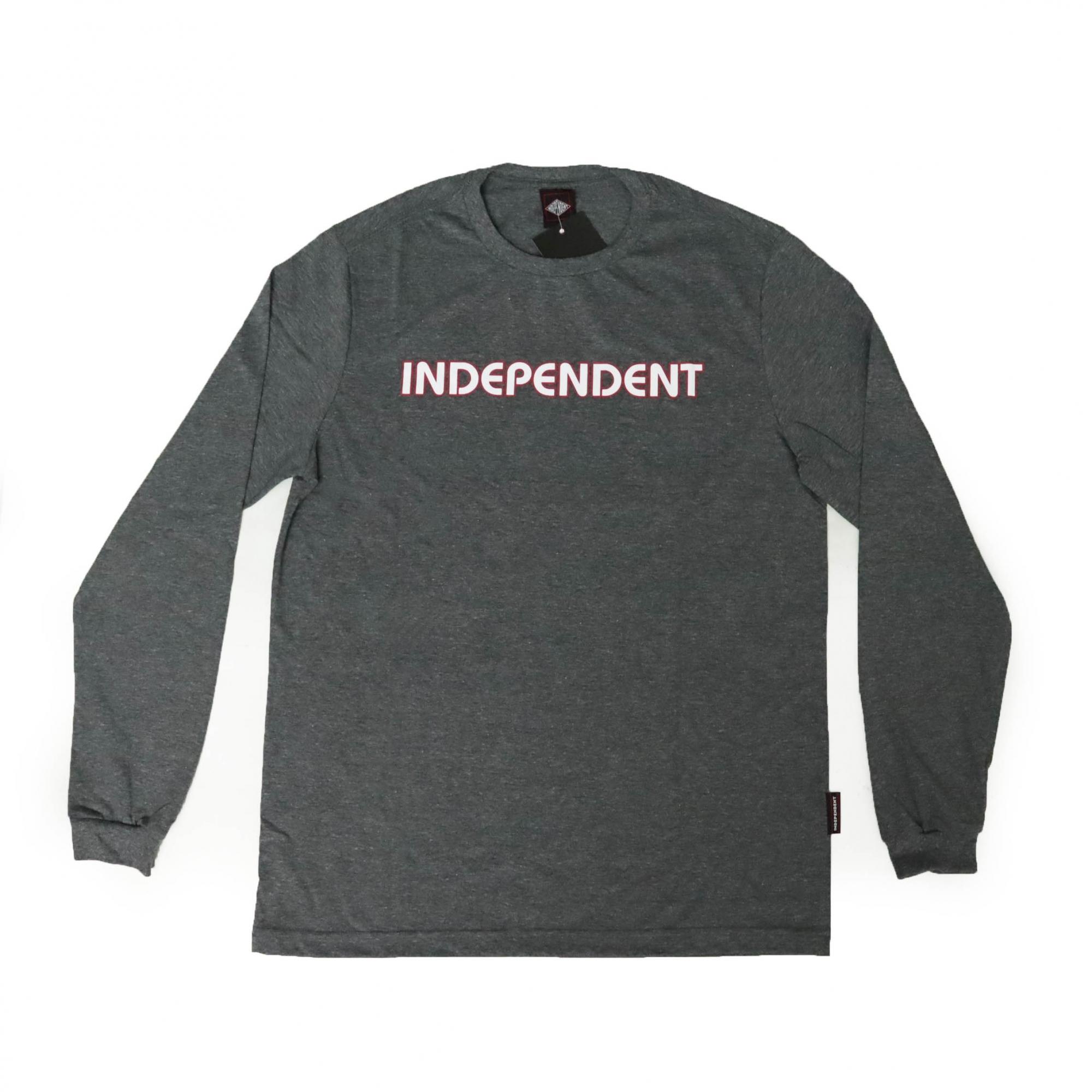 Camiseta Manga Longa Independent Bar Logo - Chumbo Mescla (60400201)