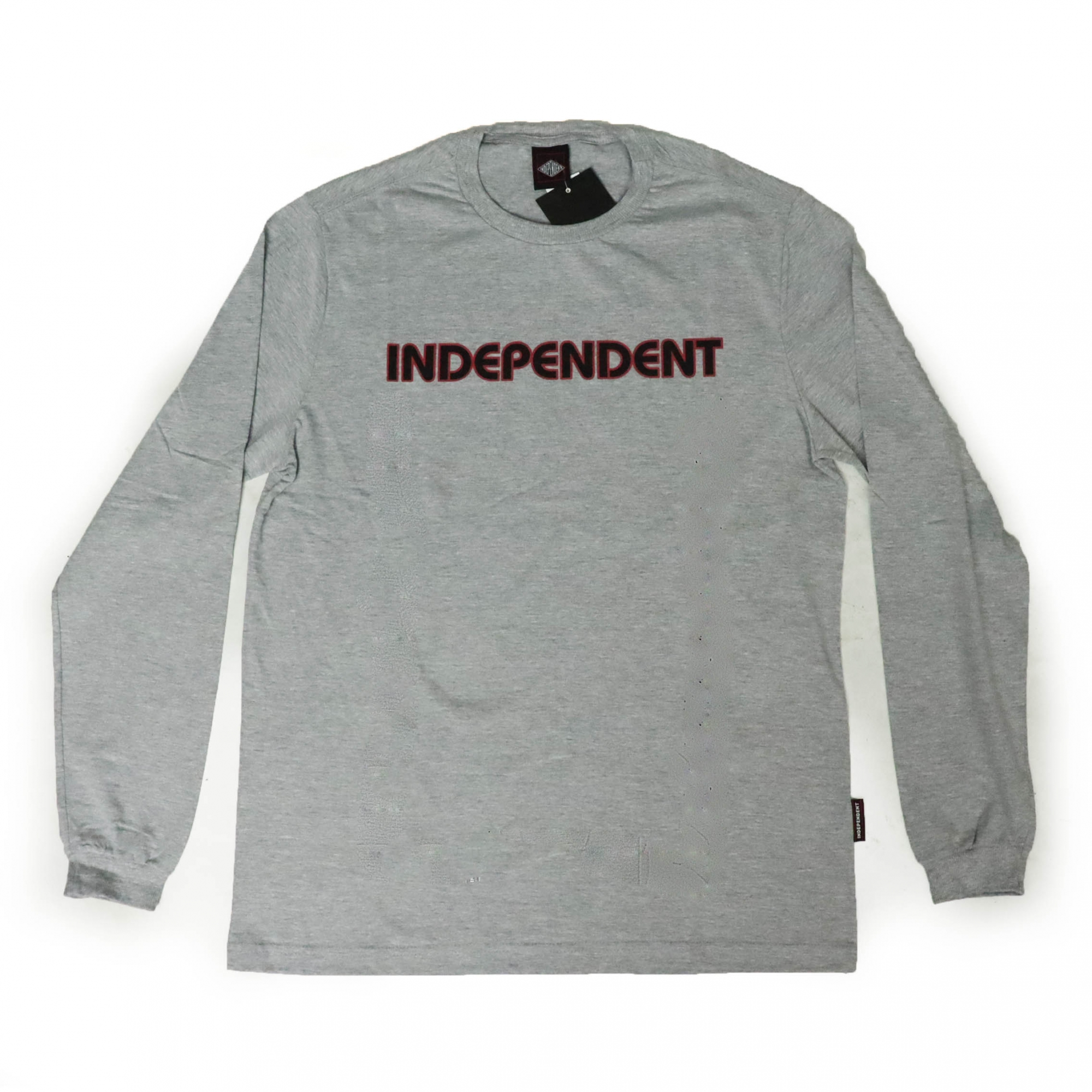 Camiseta Manga Longa Independent Bar Logo - Cinza Mescla