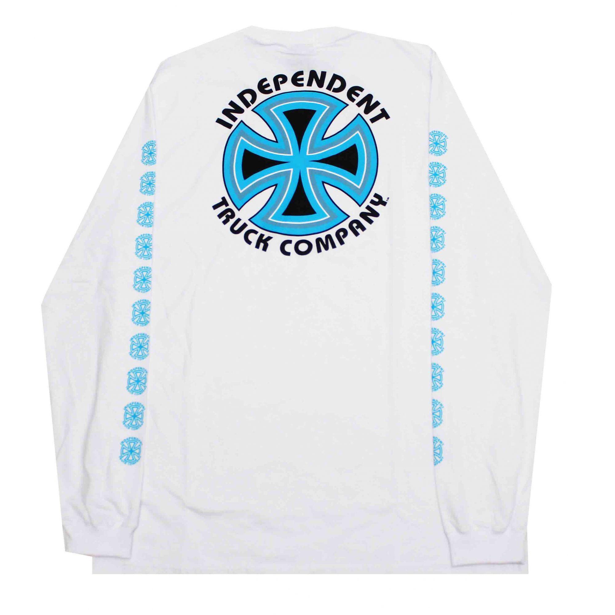 Camiseta Manga Longa Independent Bauhaus Cross White