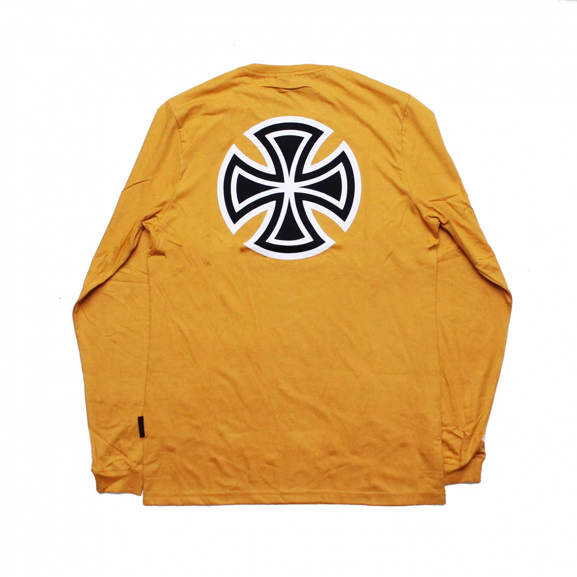 Camiseta Manga Longa Independent Black Bar Cross Amarelo