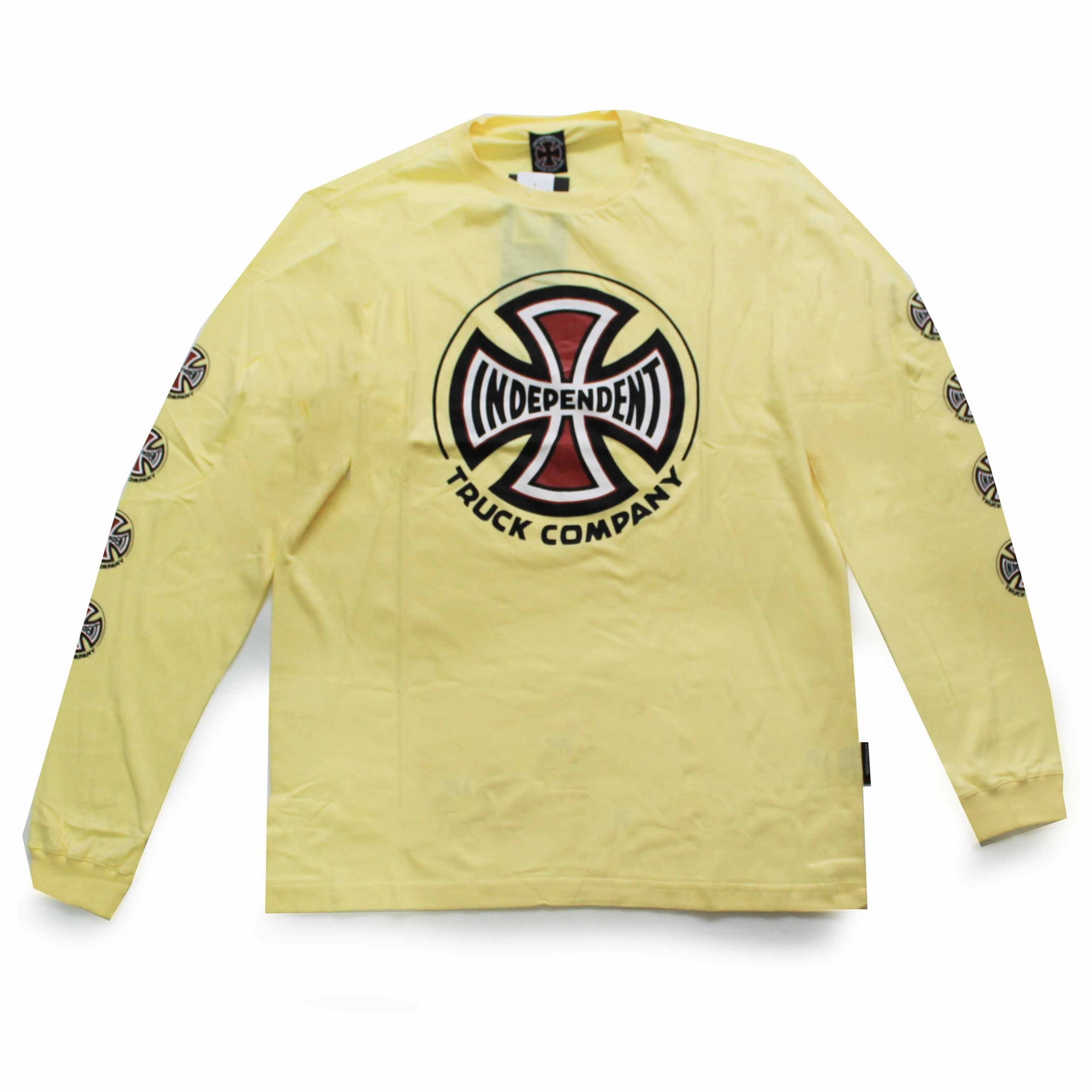 Camiseta Manga Longa Independent Truck Co 3 Colors - Amarelo Claro