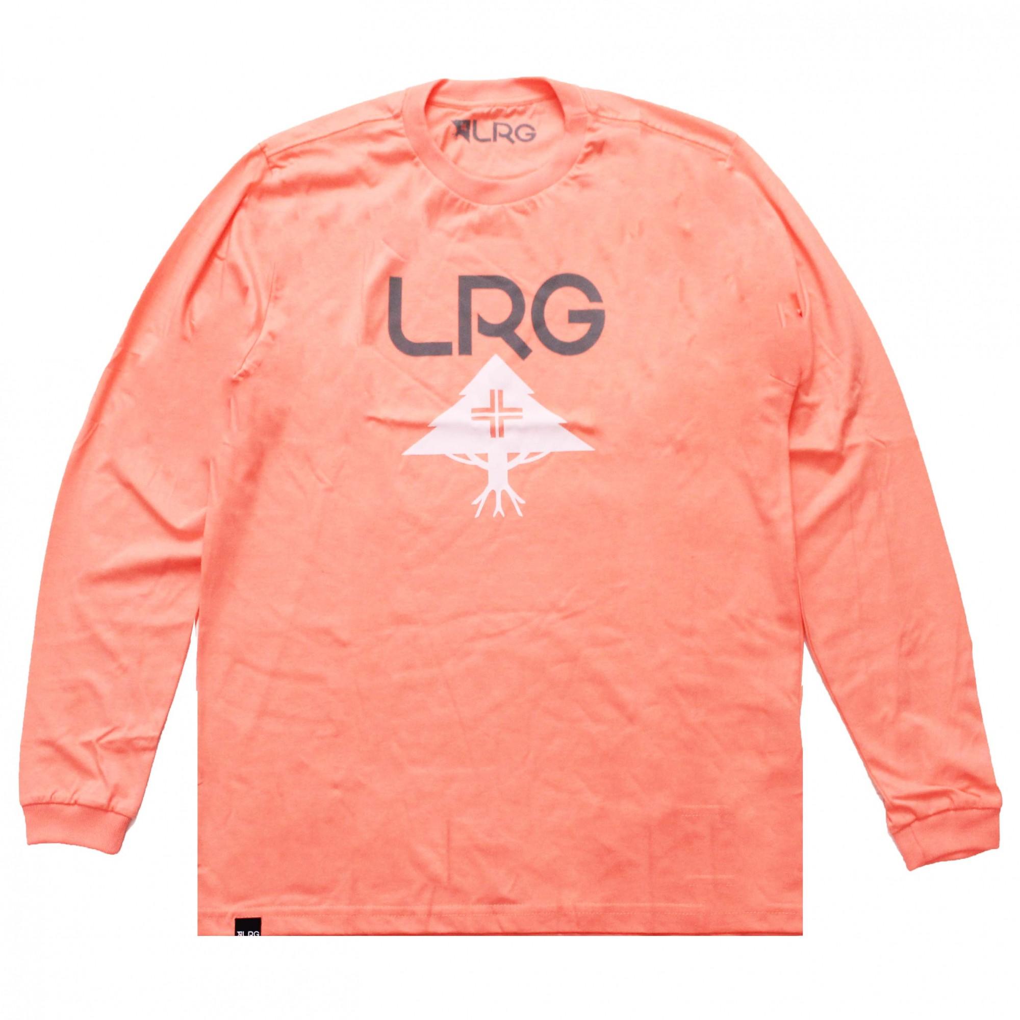 Camiseta Manga Longa LRG Logo Stack Rosa