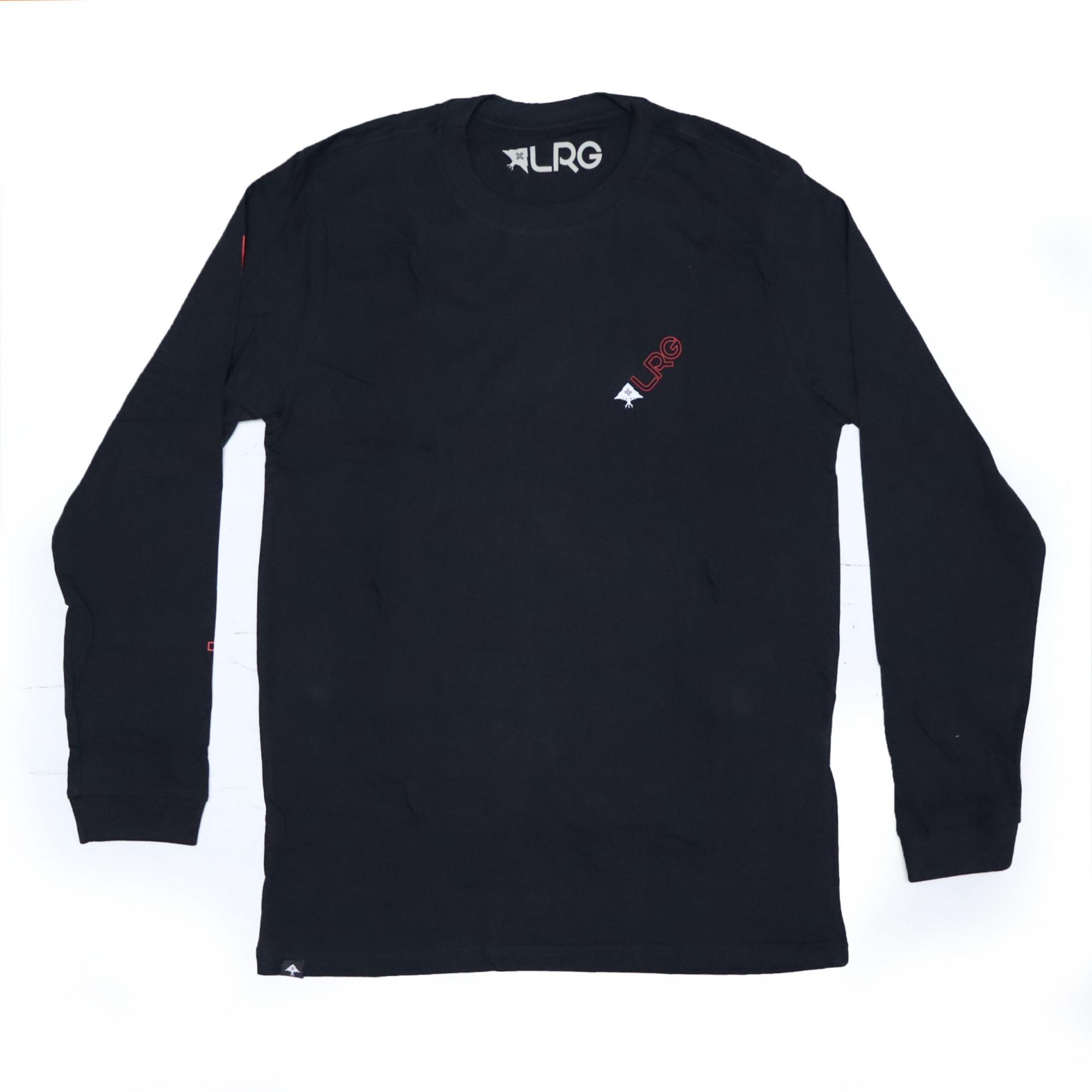 Camiseta Manga Longa LRG Slant - Preto