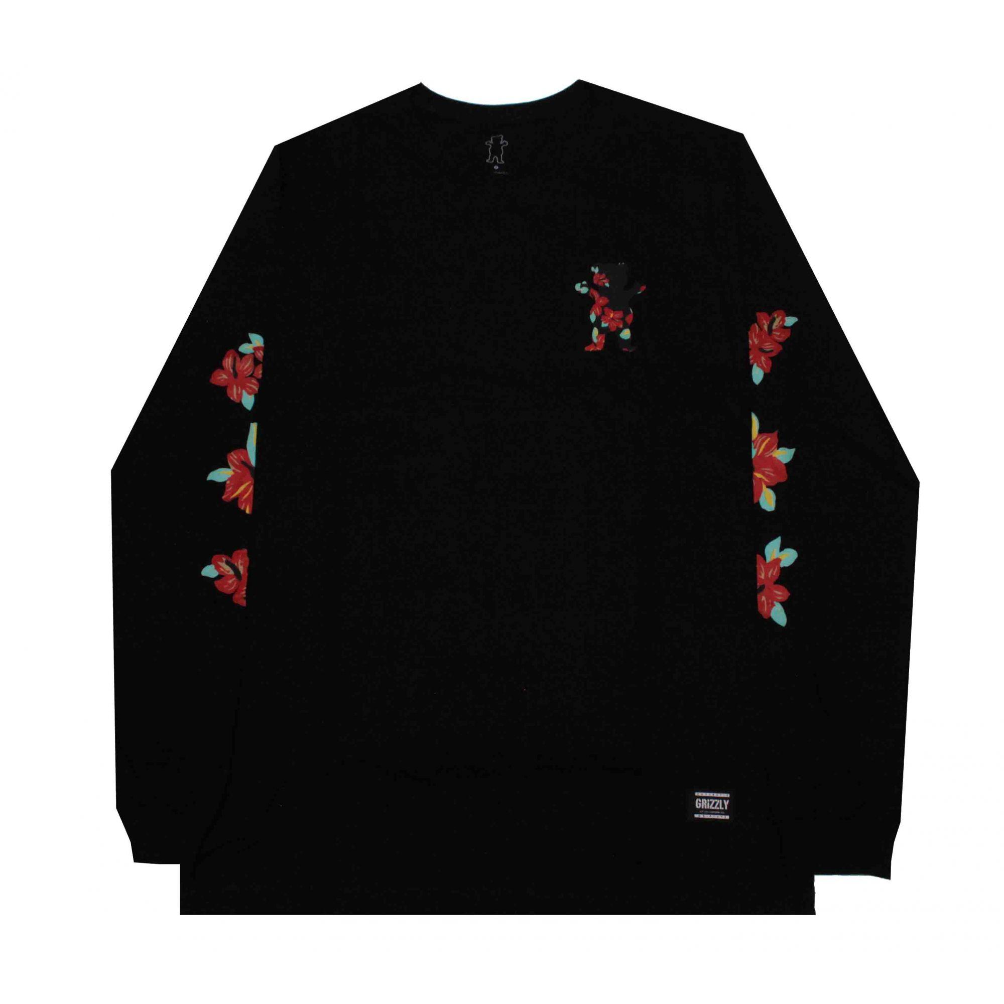 Camiseta Manga Longa Luan Floral Black