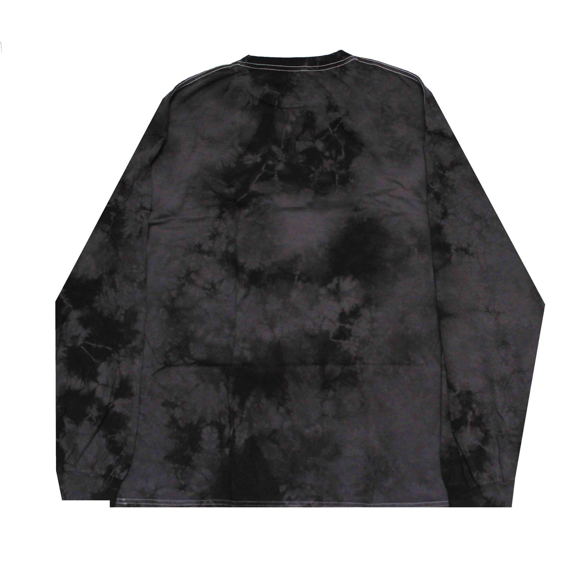 Camiseta Manga Longa Primitive Nuevo Cristal Wash Tie Dye Preto