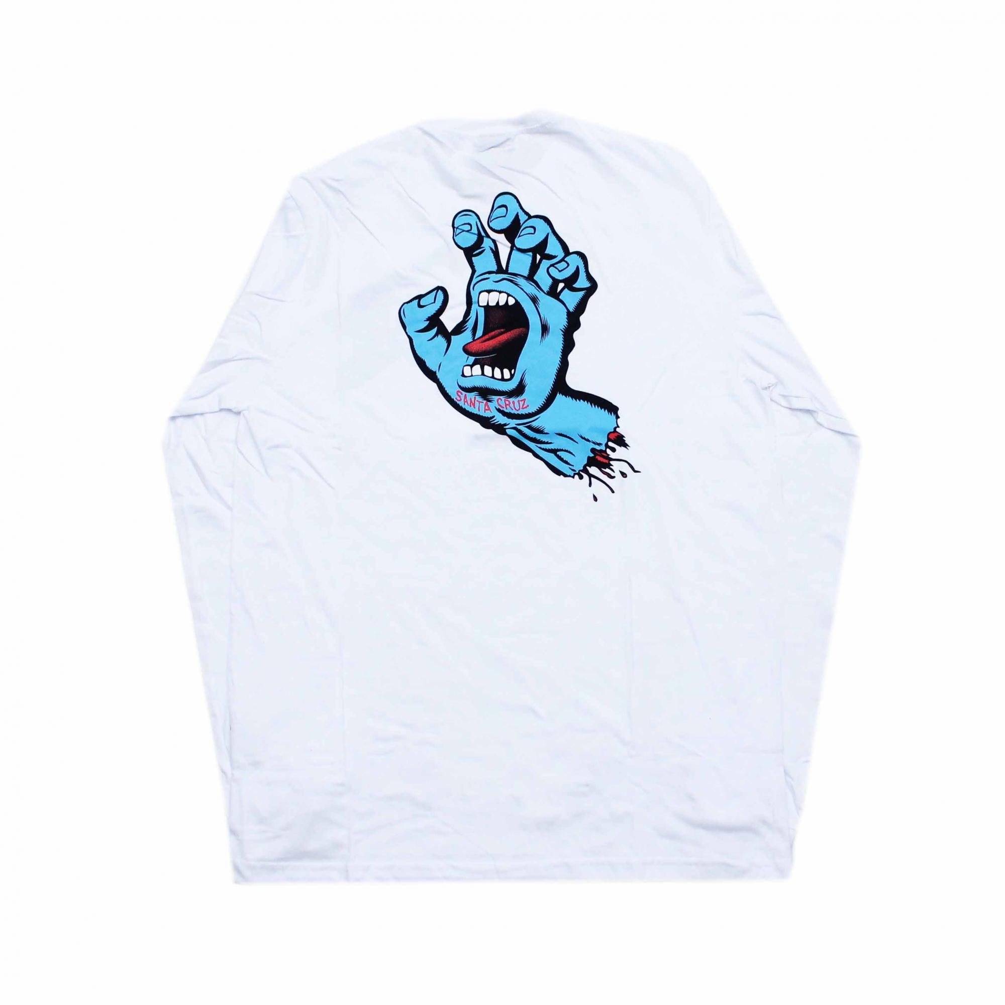 Camiseta Manga Longa Santa Cruz Frontandback Screaming Hand - Branco