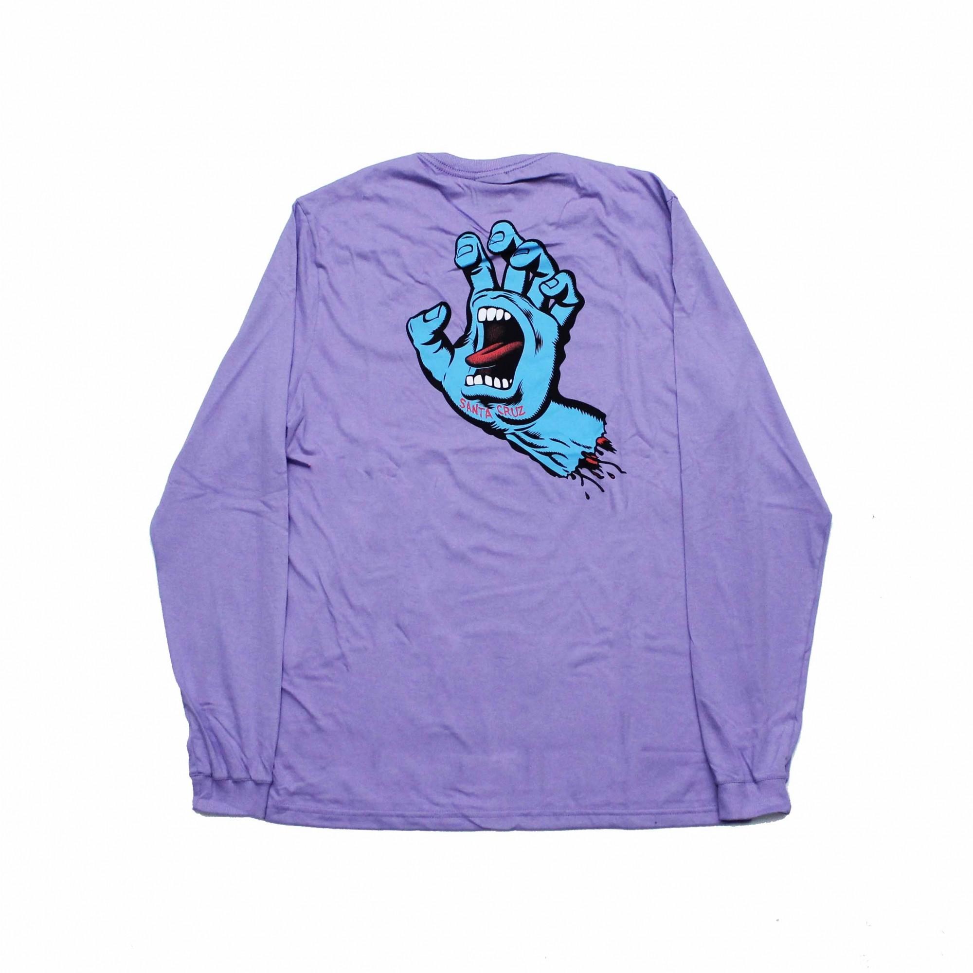 Camiseta Manga Longa Santa Cruz Frontandback Screaming Hand - Lilás