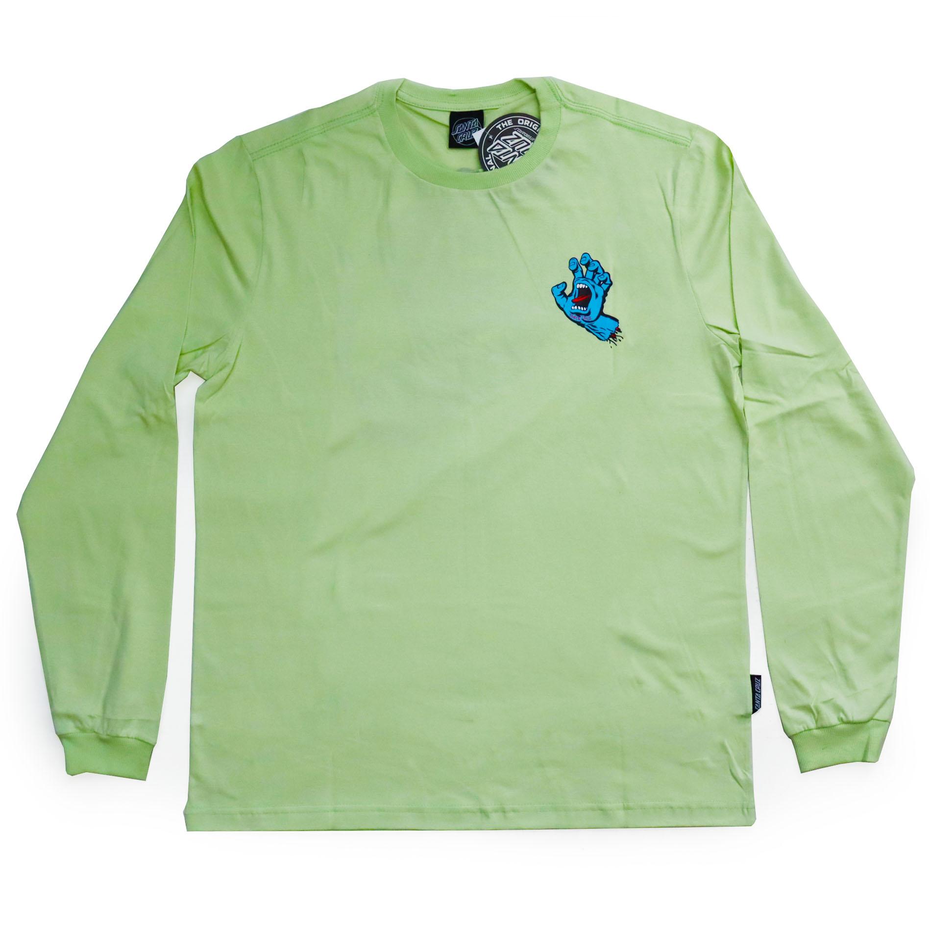 Camiseta Manga Longa Santa Cruz Frontandback Screaming Hand - Verde Claro