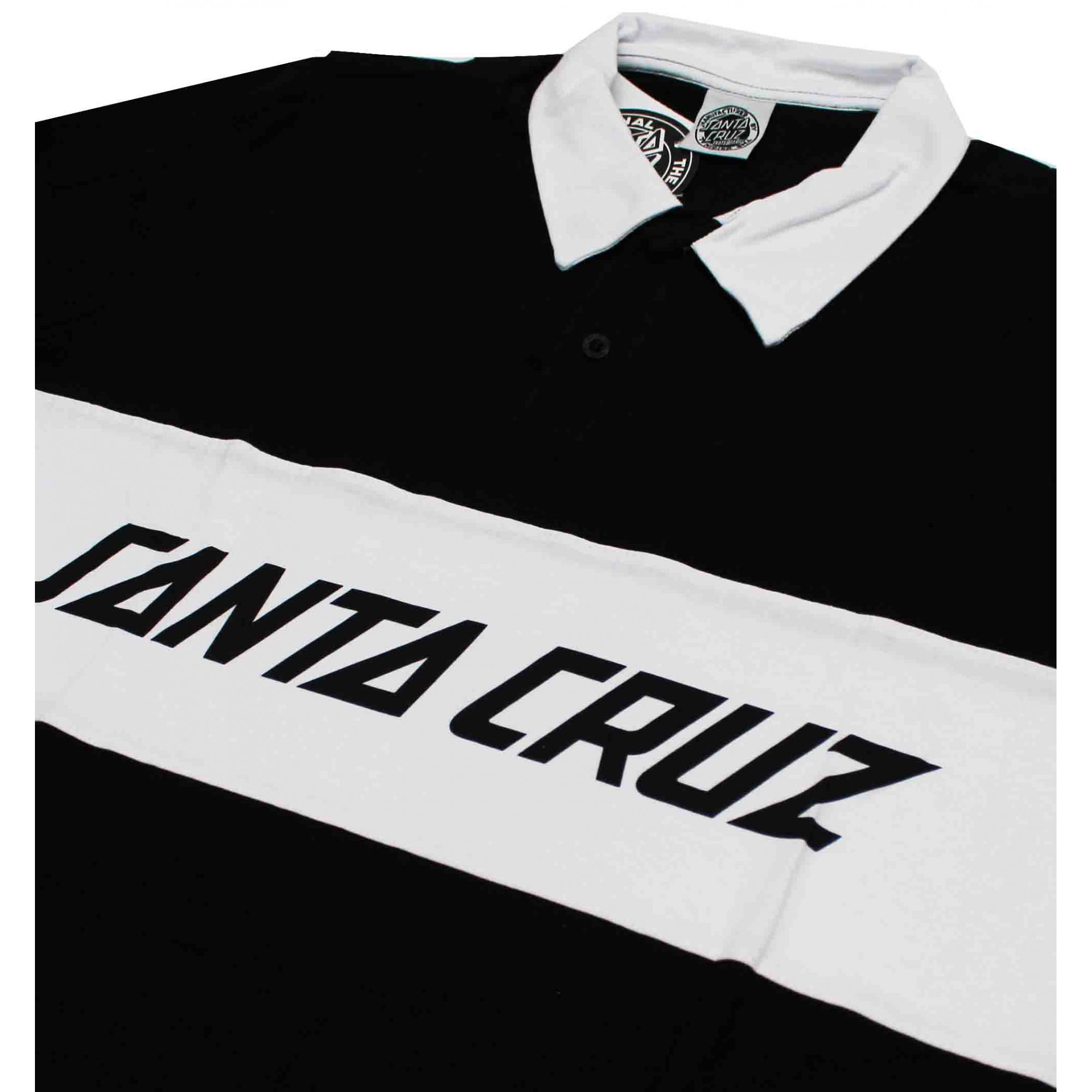 Camiseta Manga Longa Santa Cruz Striker Black/White