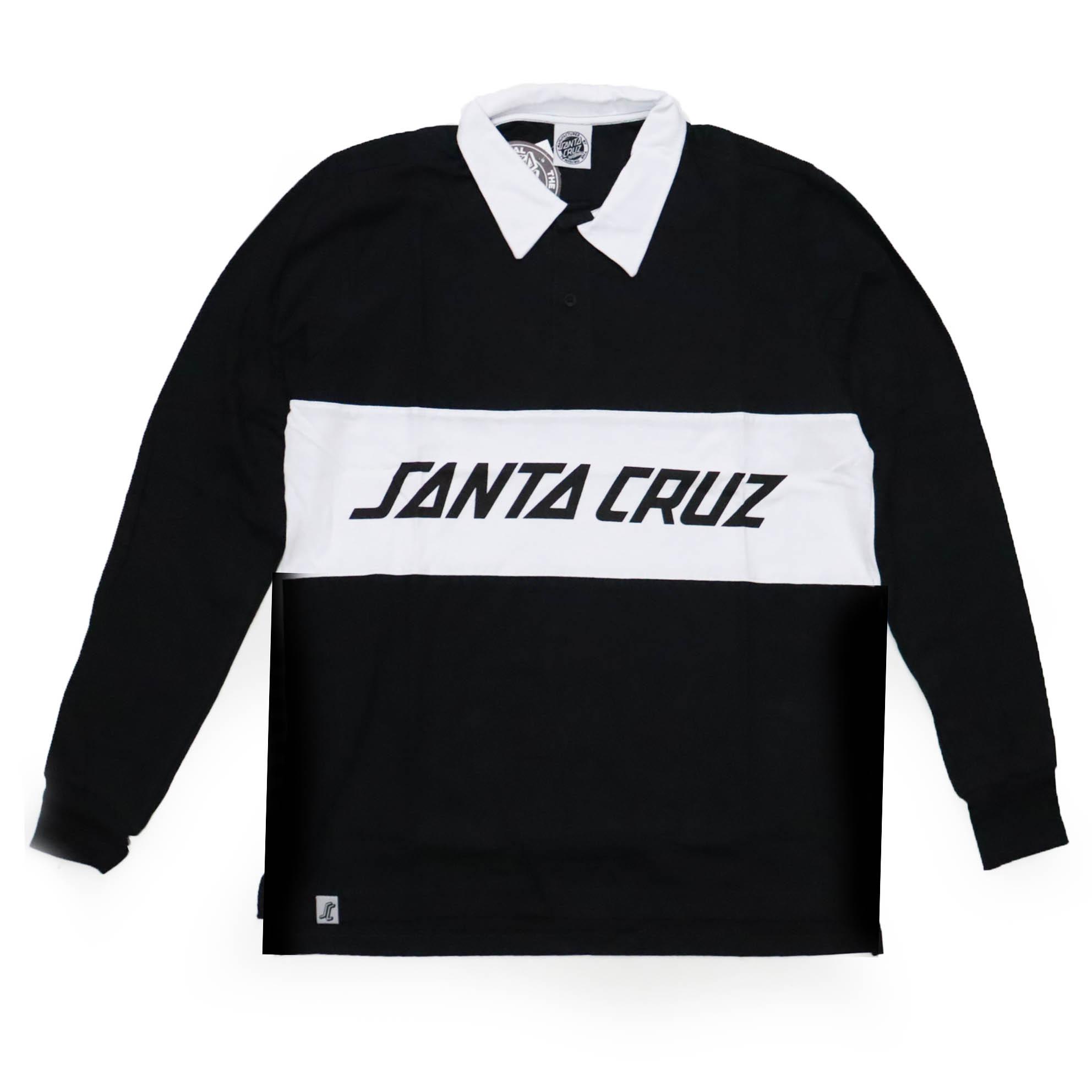 Camiseta Manga Longa Santa Cruz Striker - Preto/Branco