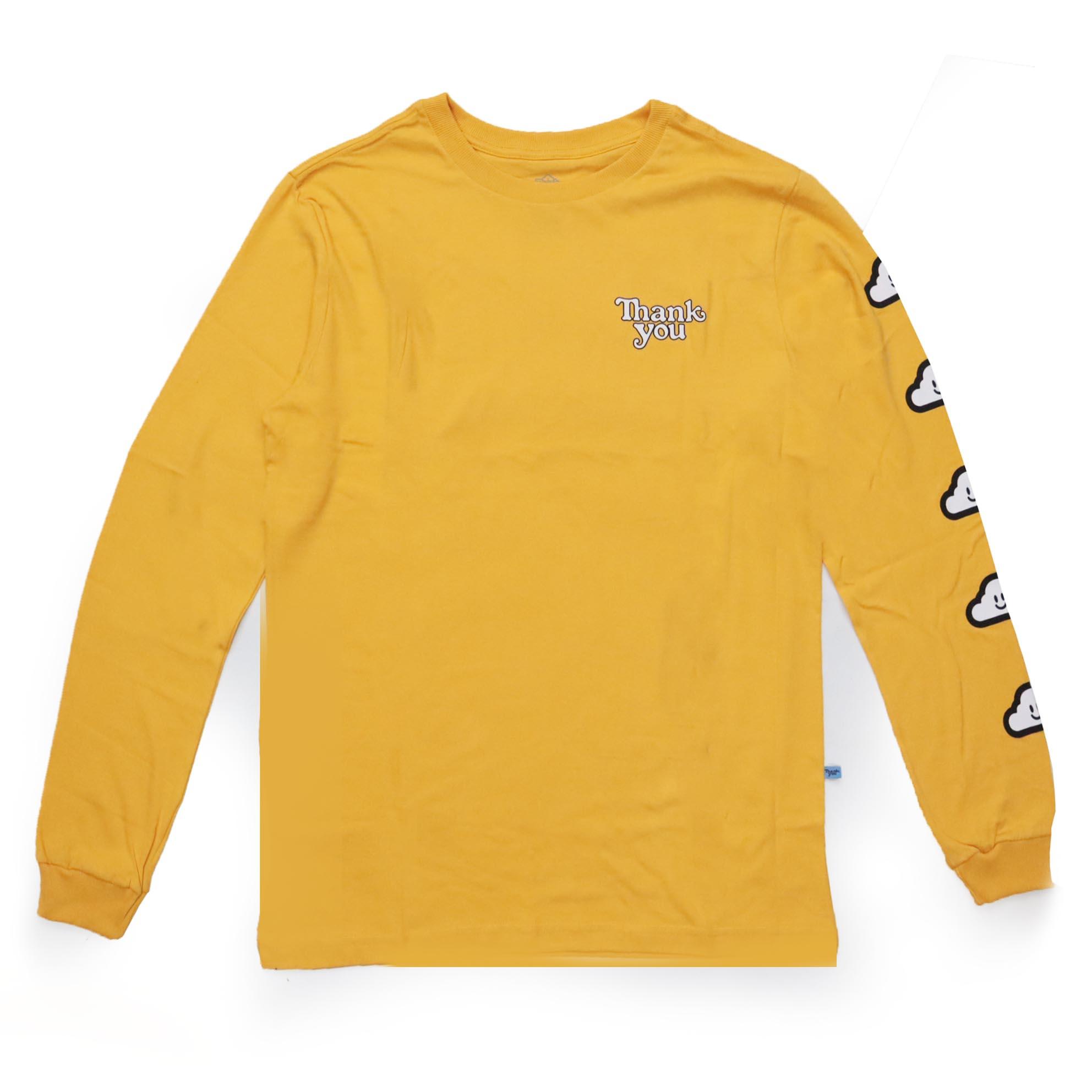 Camiseta Manga Longa Thank You Cloud - Amarelo Gold