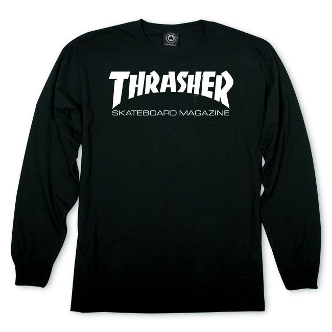 Camiseta Manga Longa Thrasher Magazine Skate Mag Preto