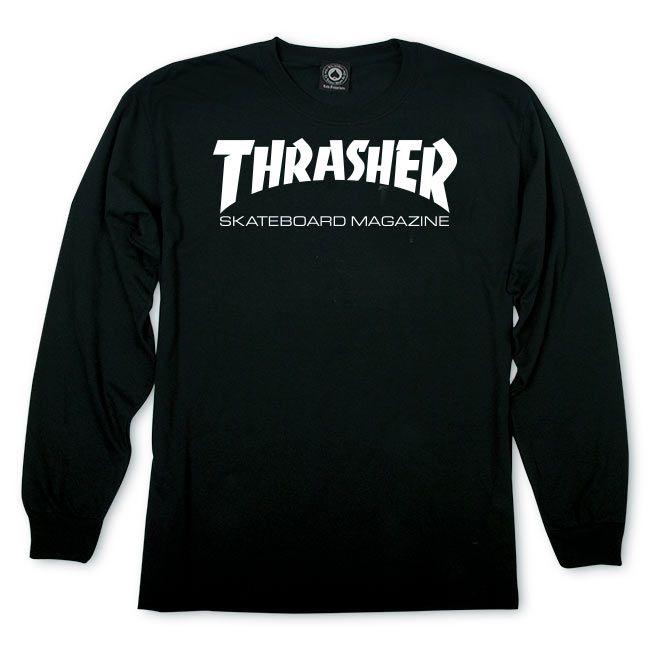 Camiseta Manga Longa Thrasher Magazine Skate Mag - Preto