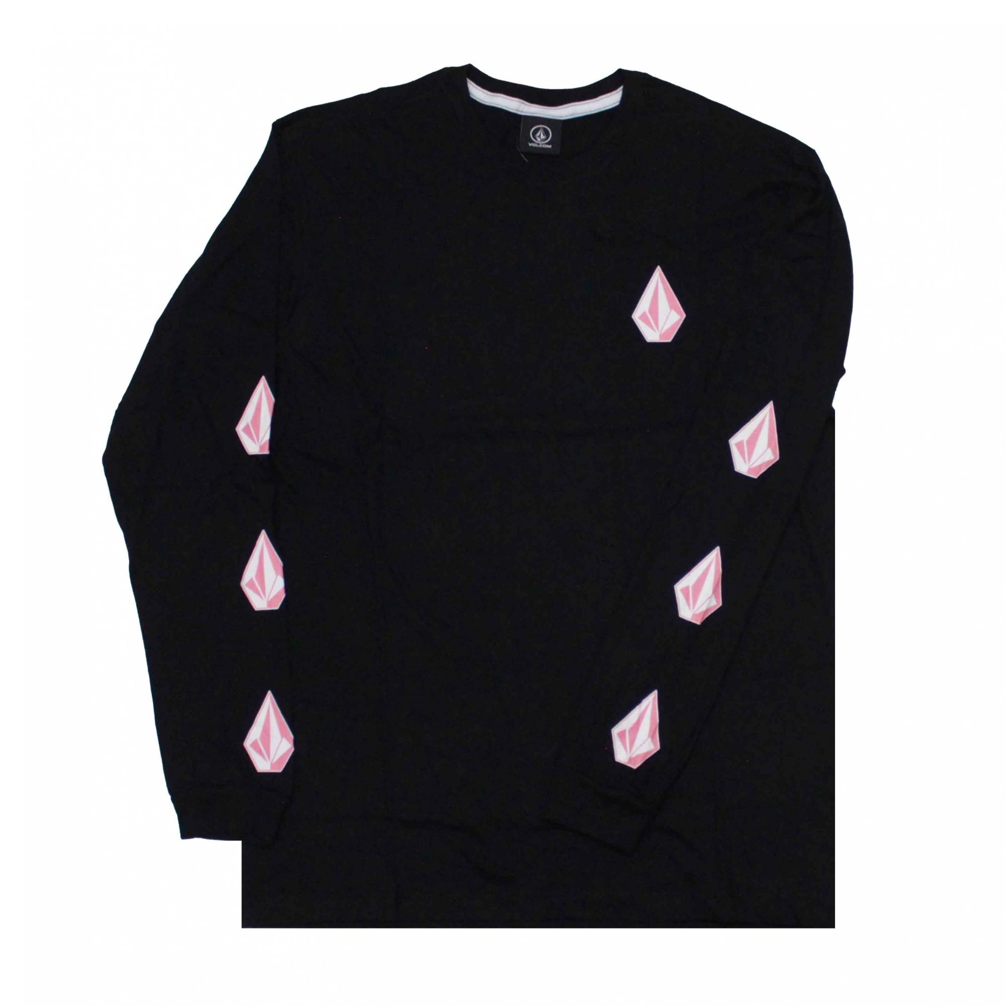 Camiseta Manga Longa Volcom Deadly Stones - Preto