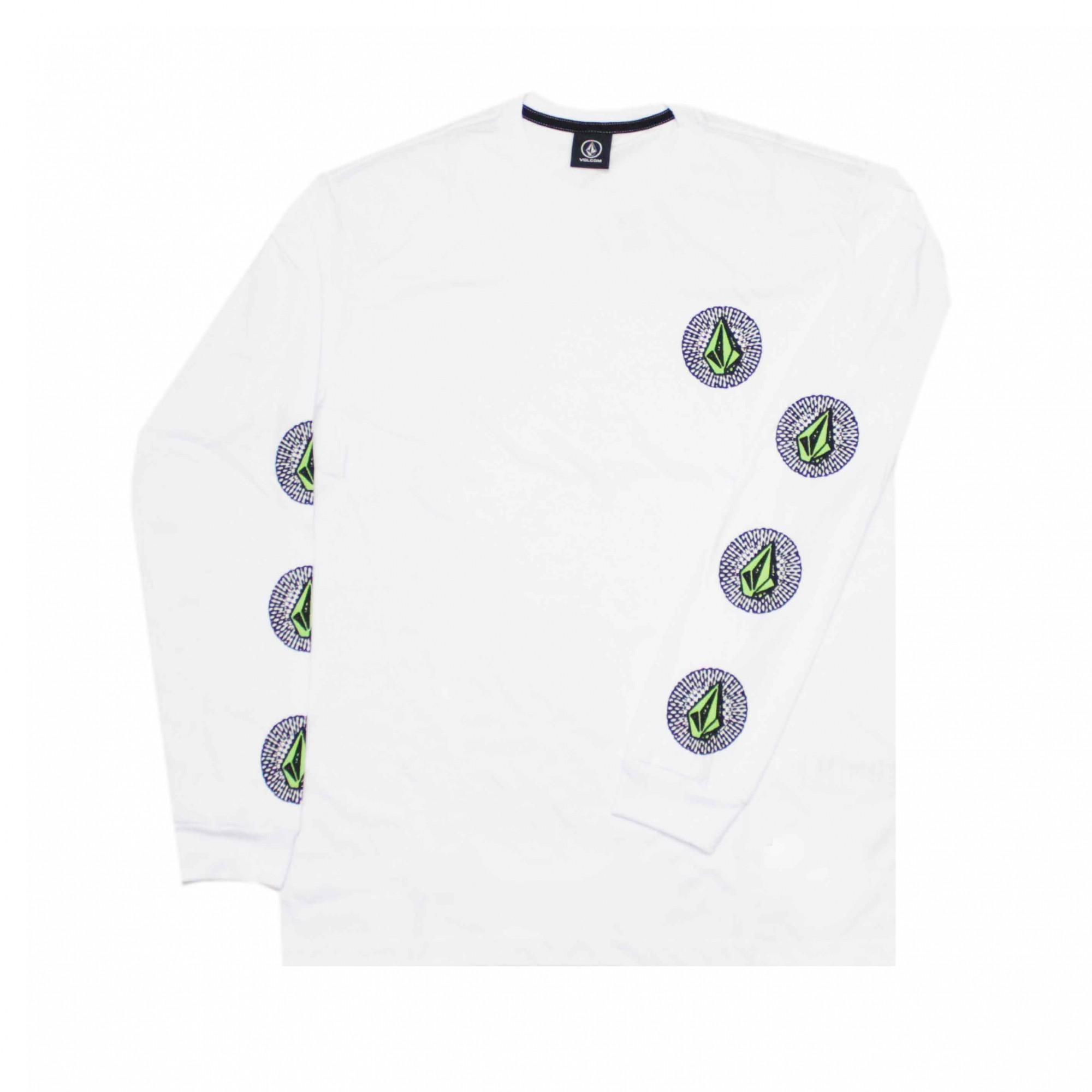 Camiseta Manga Longa Volcom Future Stones Branco