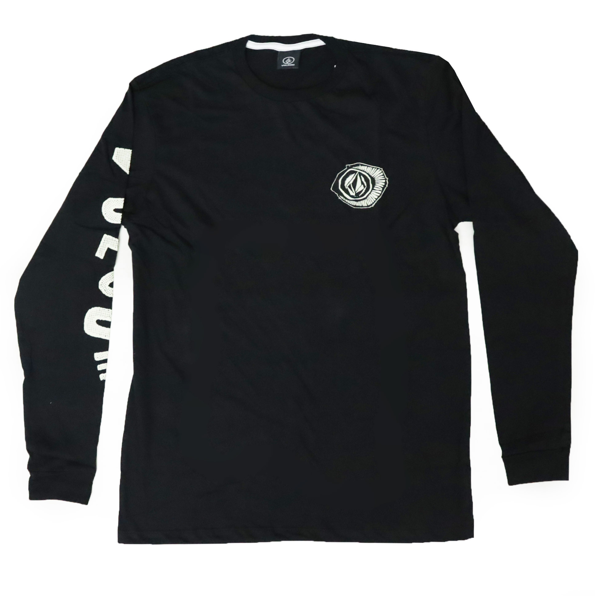 Camiseta Manga Longa Volcom Sick - Preto