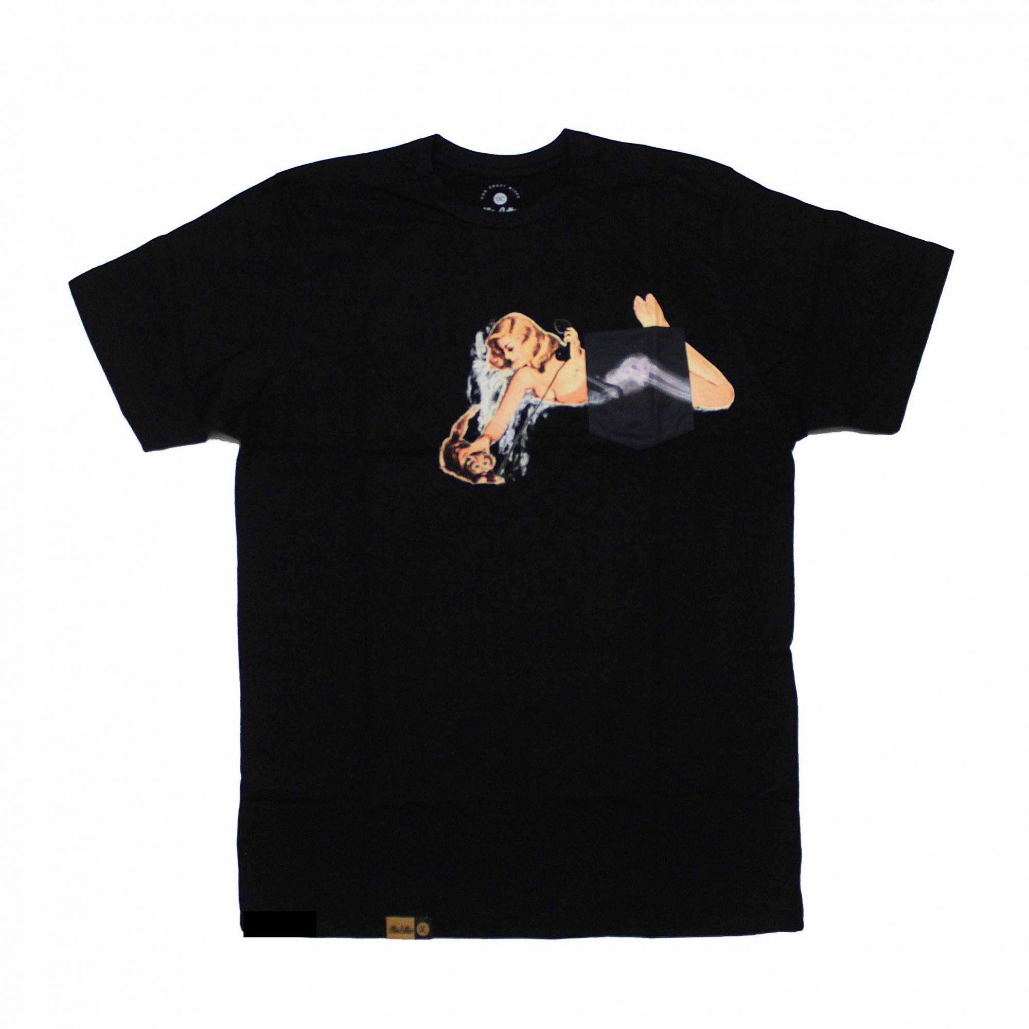 Camiseta Other Culture com bolso X-Ray Preto