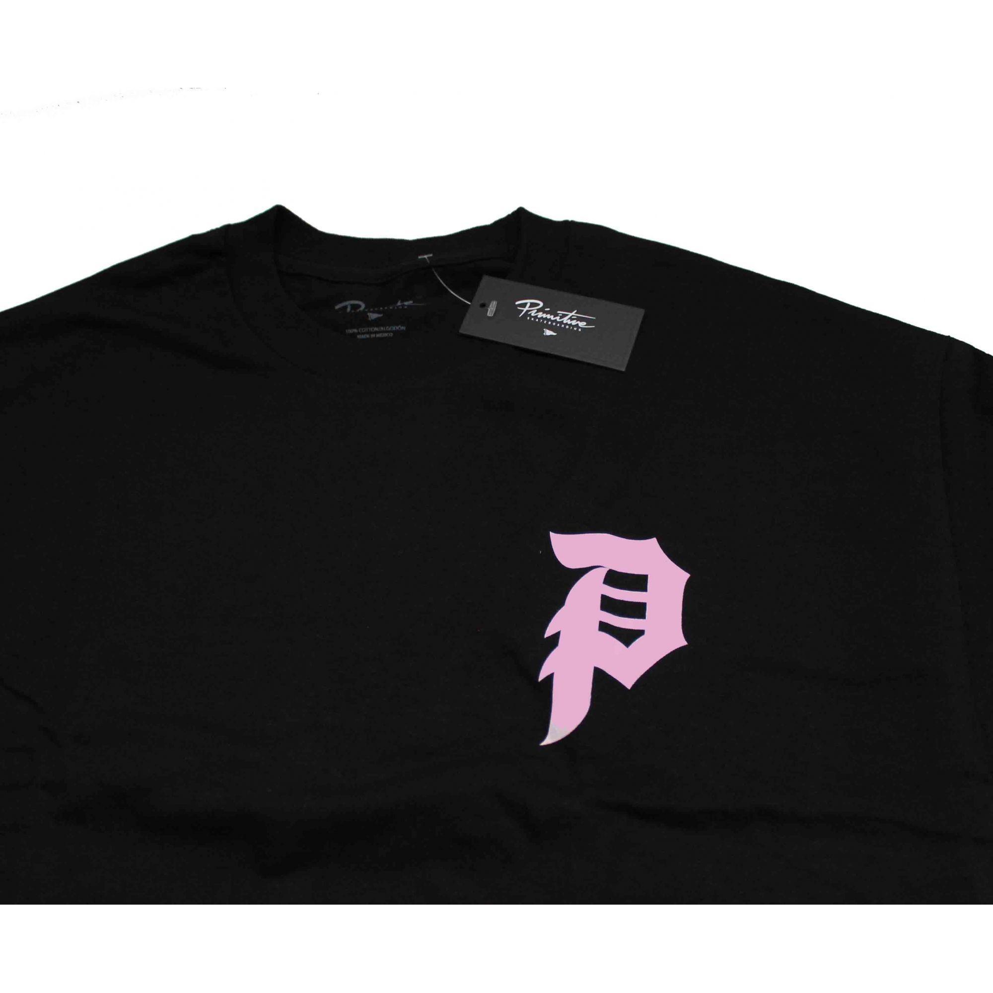 Camiseta Primitive Dirt P Core Tee Preto/Rosa