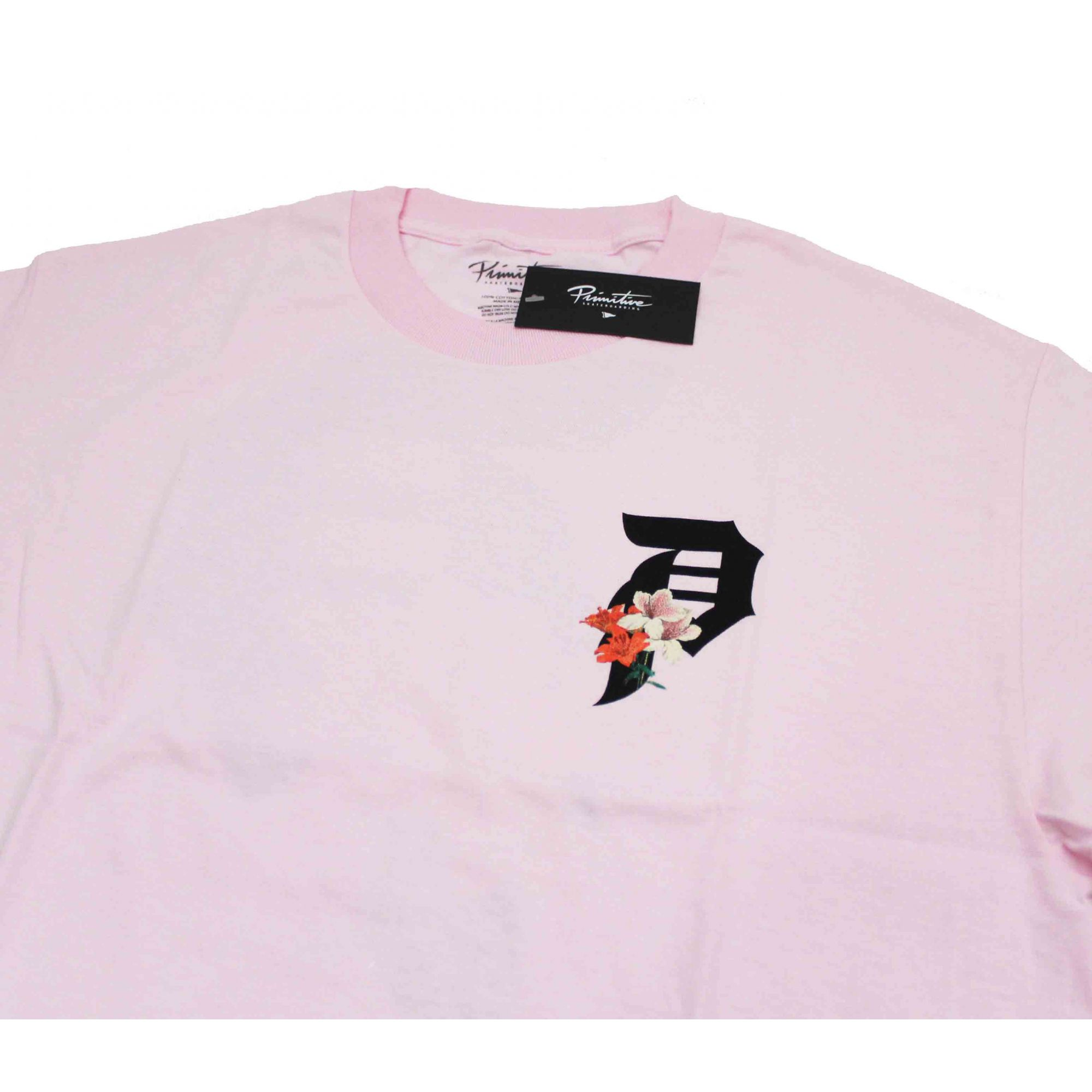 Camiseta Primitive Dirty P Lily Tee Rosa