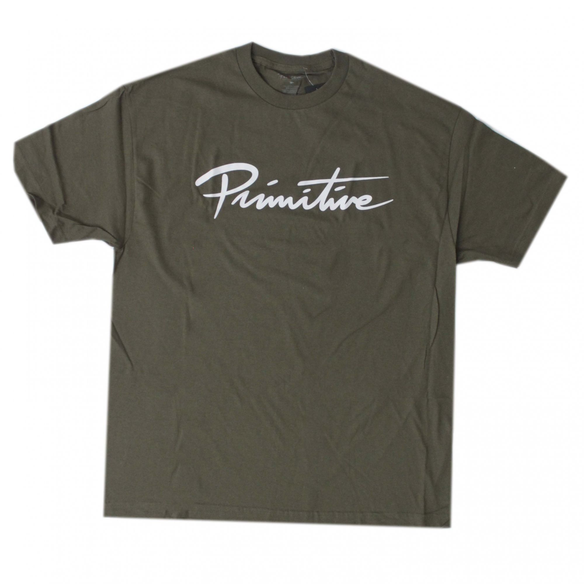 Camiseta Primitive Nuevo Script Core Tee Verde Escuro (Importado)
