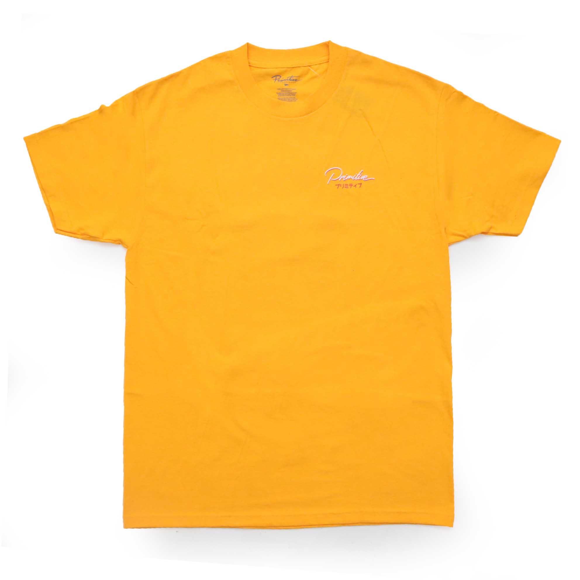 Camiseta Primitive Osaka- Amarelo (Importado)