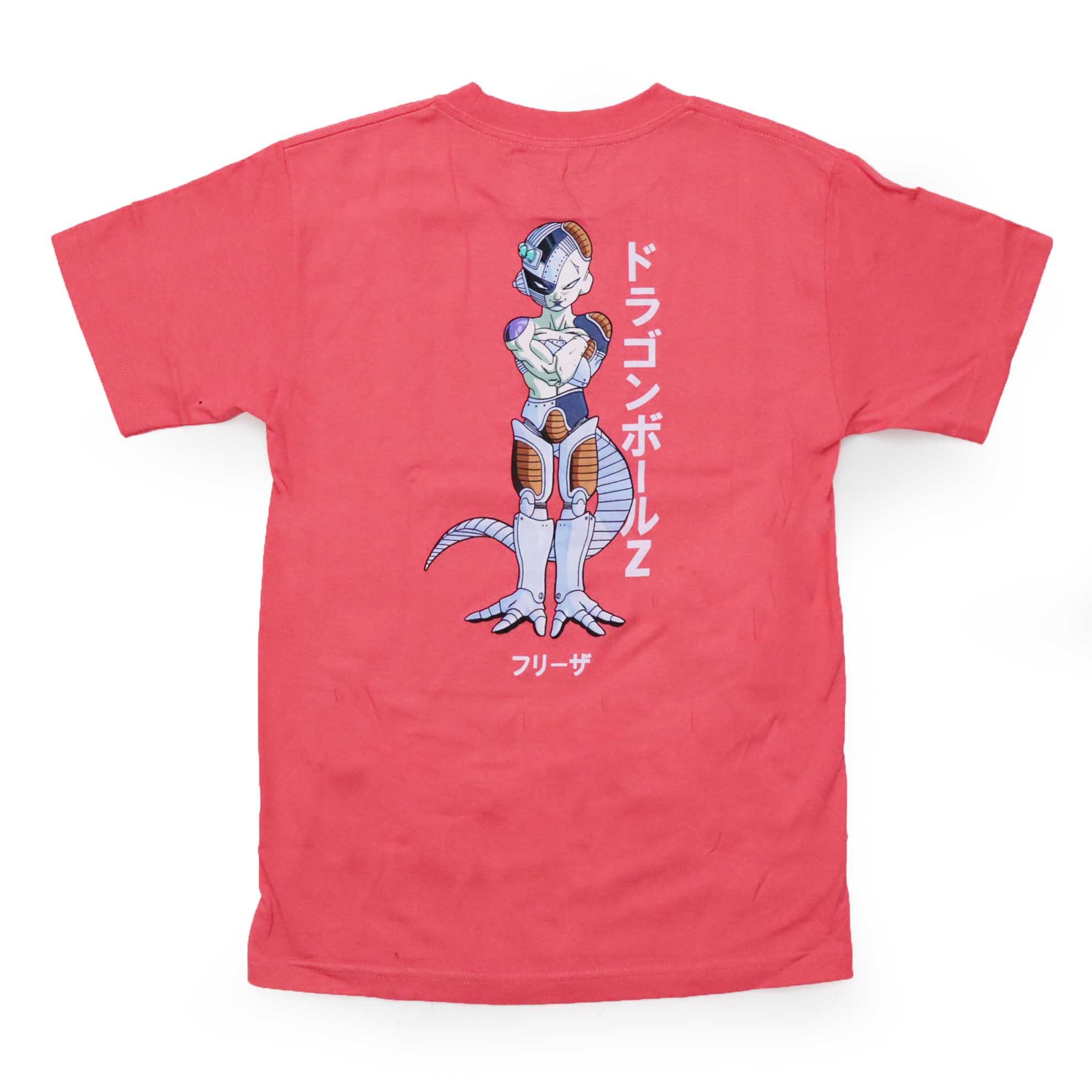 Camiseta Primitive x Dragon Ball Freeza Mecha - Coral (Importado)