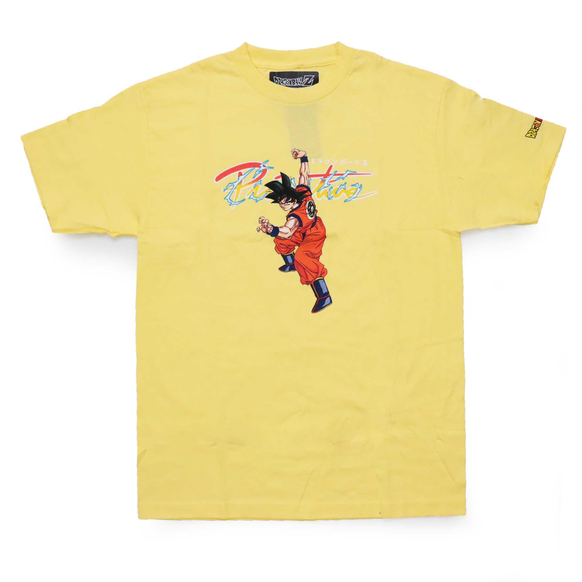 Camiseta Primitive x Dragon Ball Nuevo Goku - Amarelo (Importado)