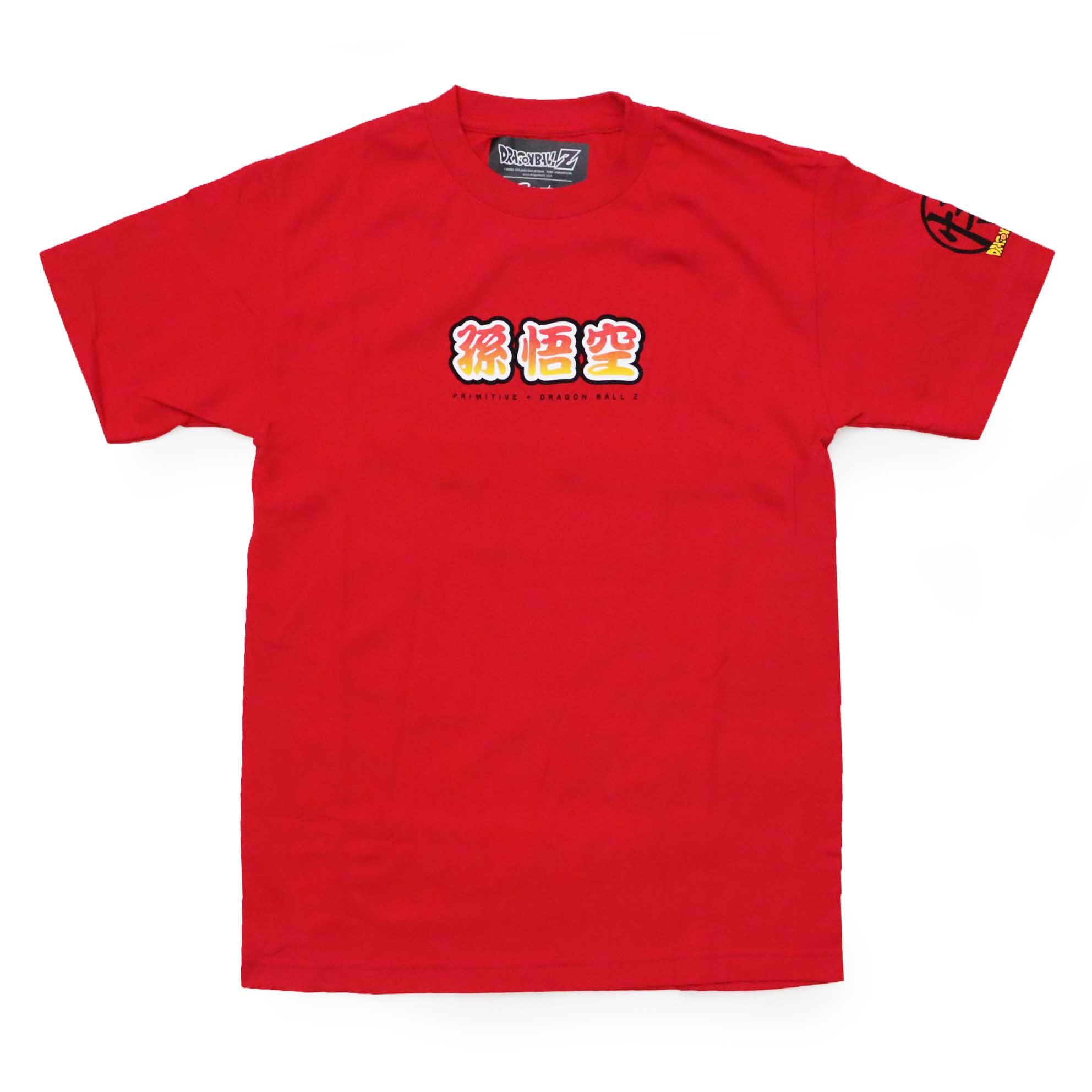 Camiseta Primitive x Dragon Ball Saiyan Style - Vermelho (Importado)
