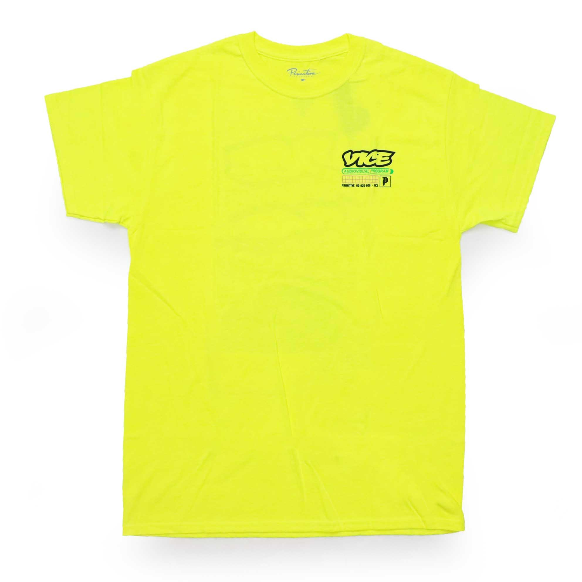 Camiseta Primitive x Vice Program - Verde Neon (Importado)
