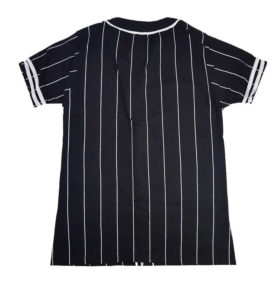 Camiseta Riot Baseball Classic Skull Strip Black