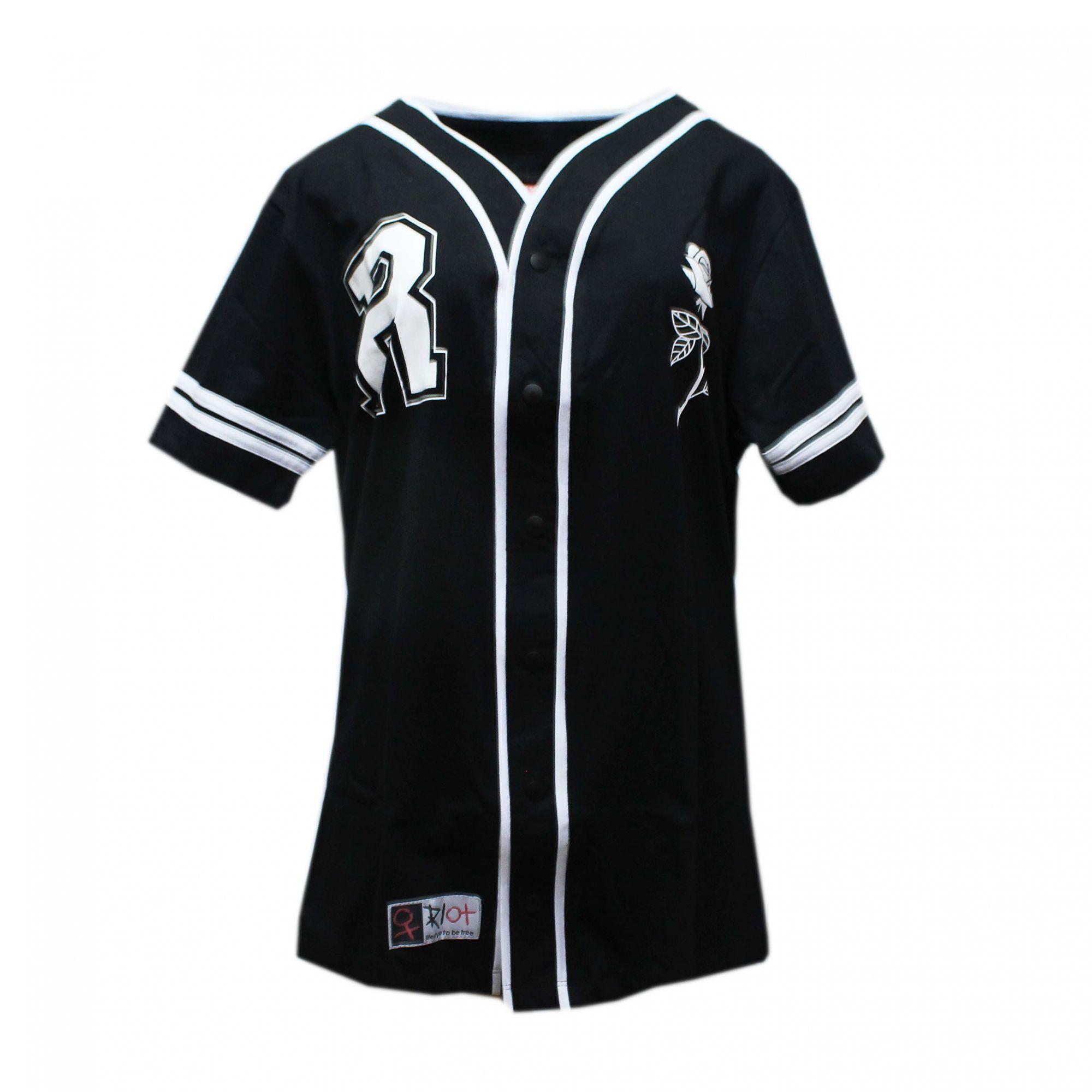 Camiseta Riot Baseball Passion Preto