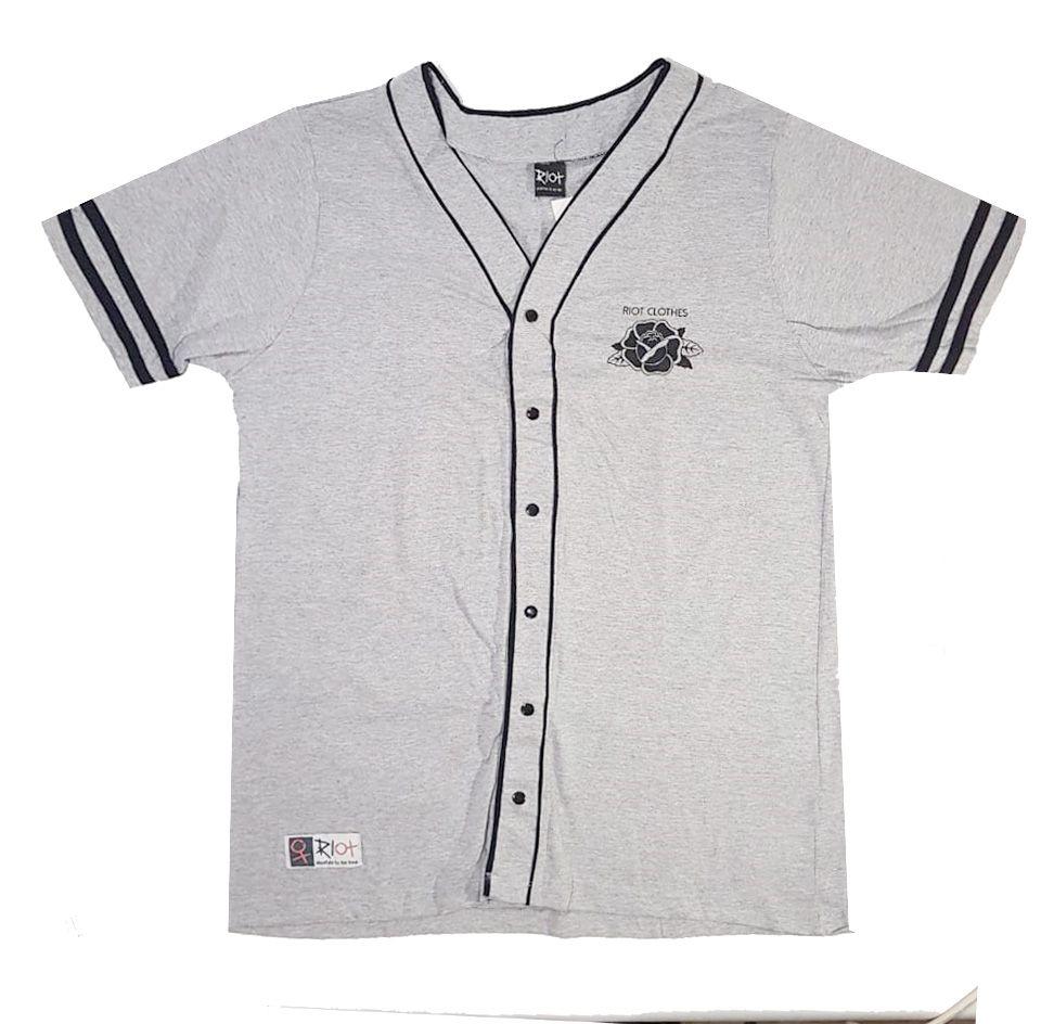 Camiseta Riot Baseball Rose Grey