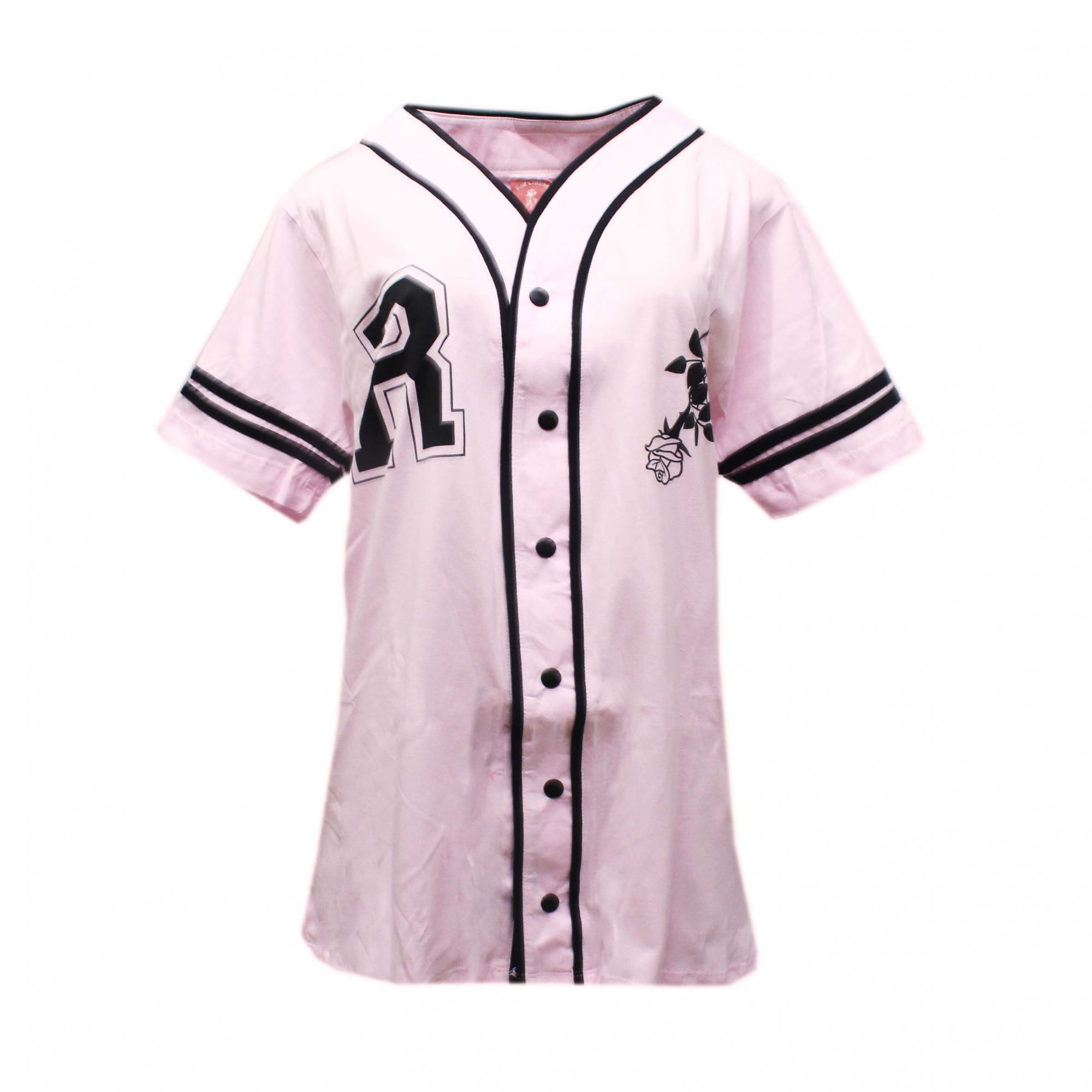 Camiseta Riot Baseball Wild Rosa Bebê