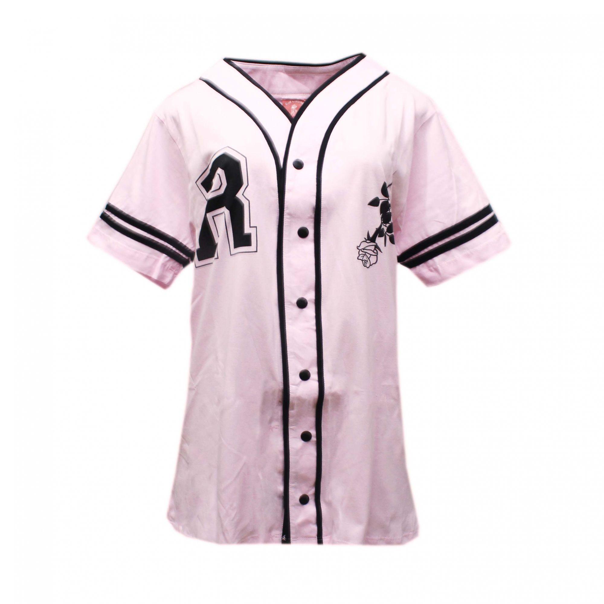 Camiseta Riot Baseball Wild - Rosa Bebê