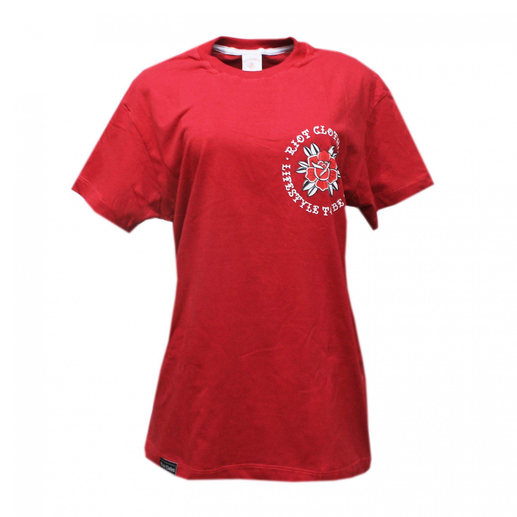 Camiseta Riot Lifestyle - Vermelho