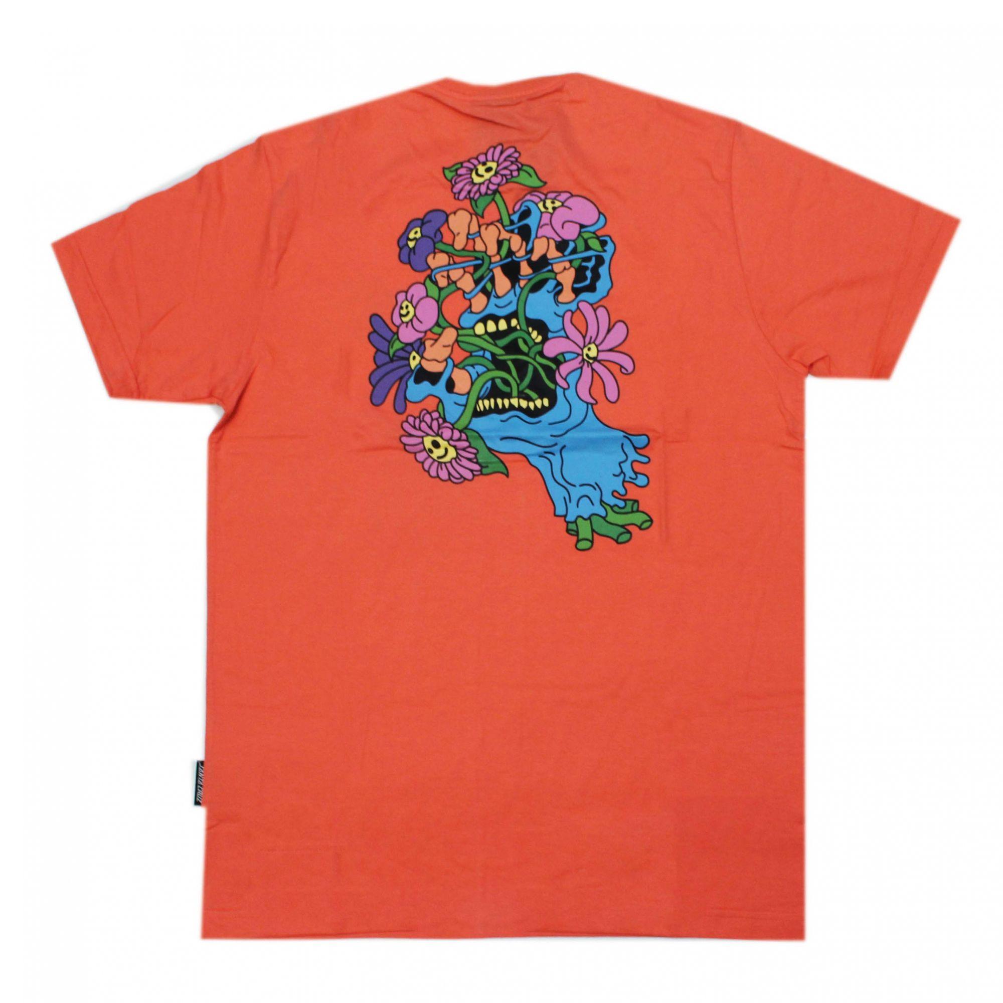 Camiseta Santa Cruz Baked Hand - Coral