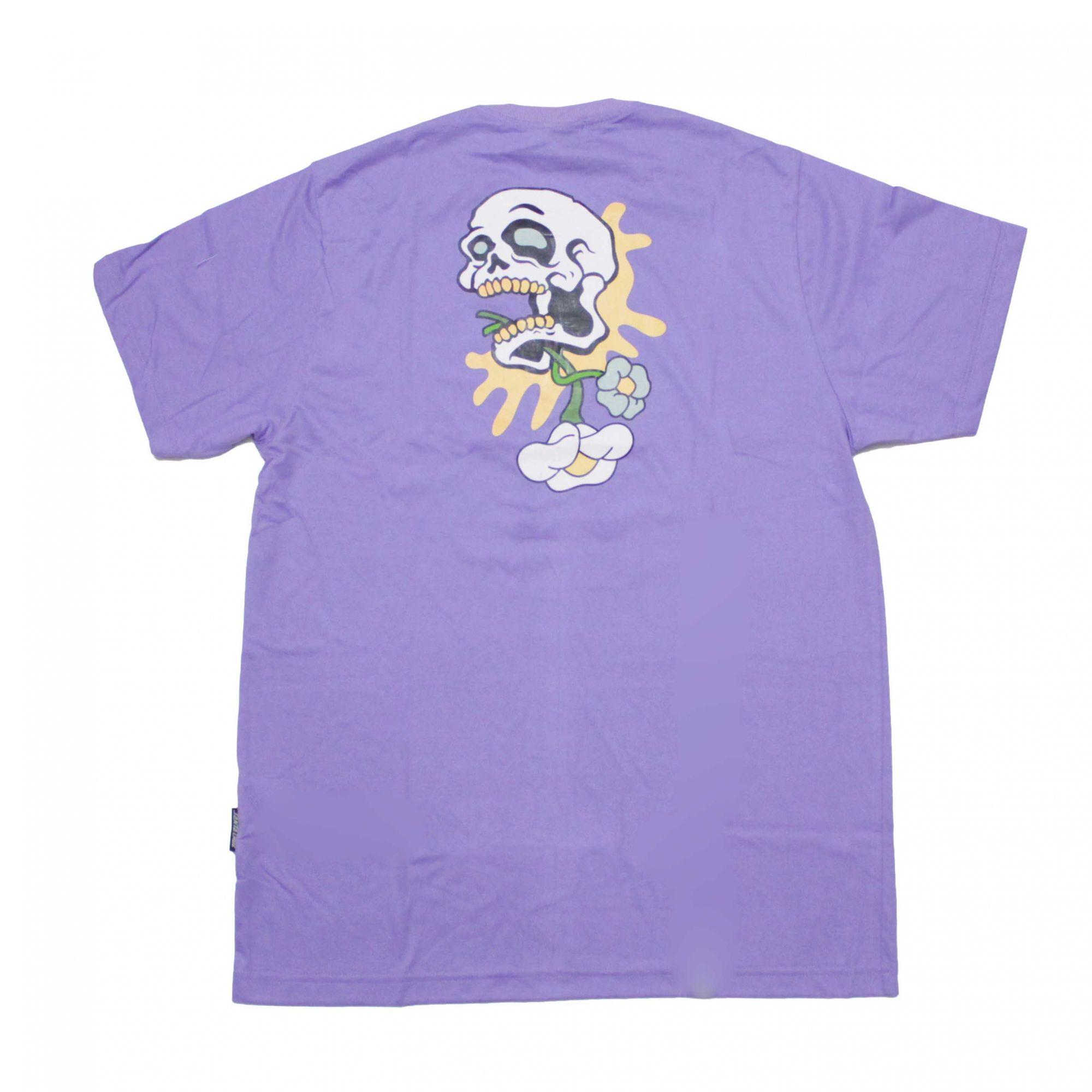 Camiseta Santa Cruz Baked Skull Lilás